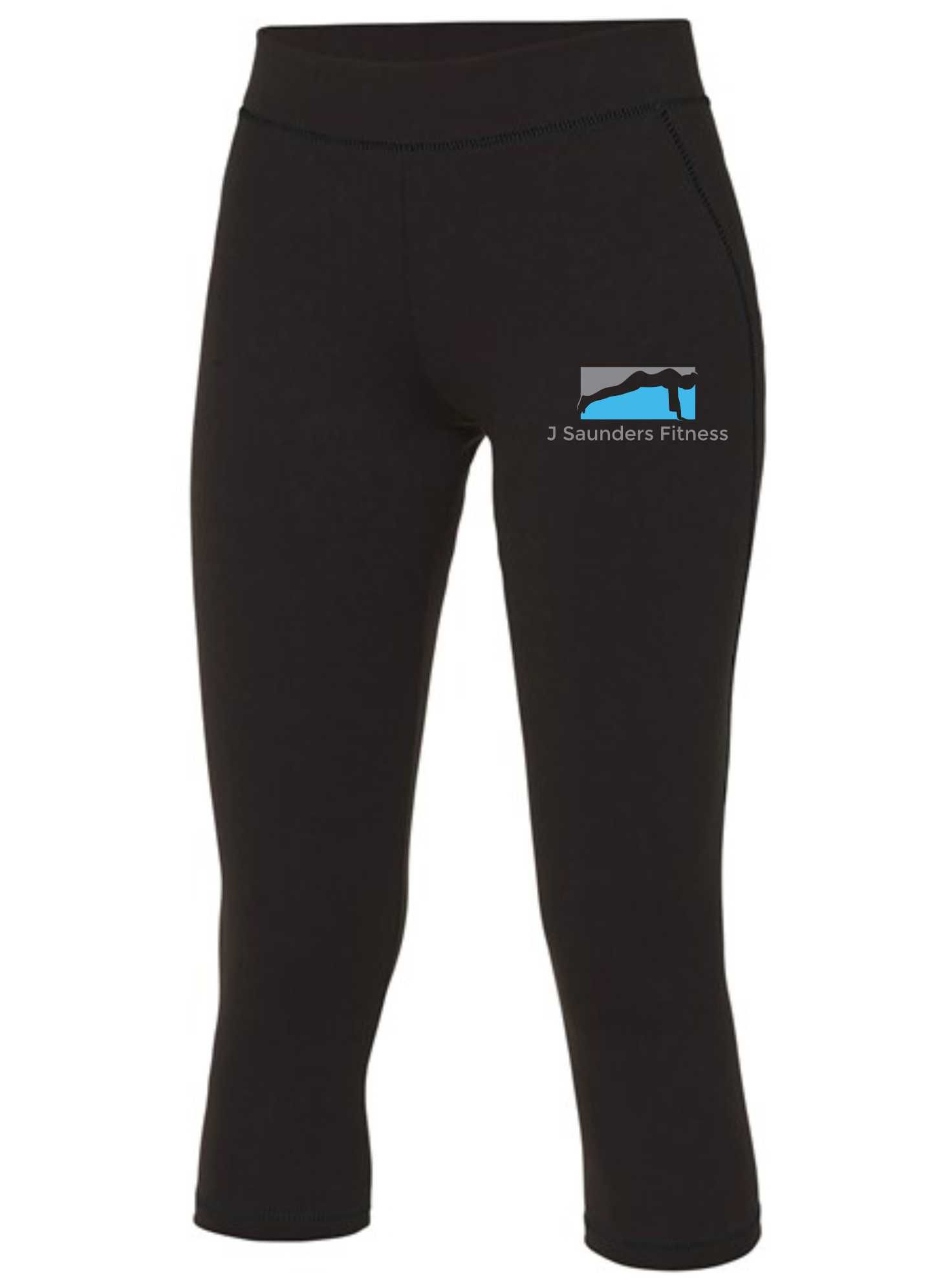 J Saunders Fitness- Sports 3/4 Leggings (Ladies)