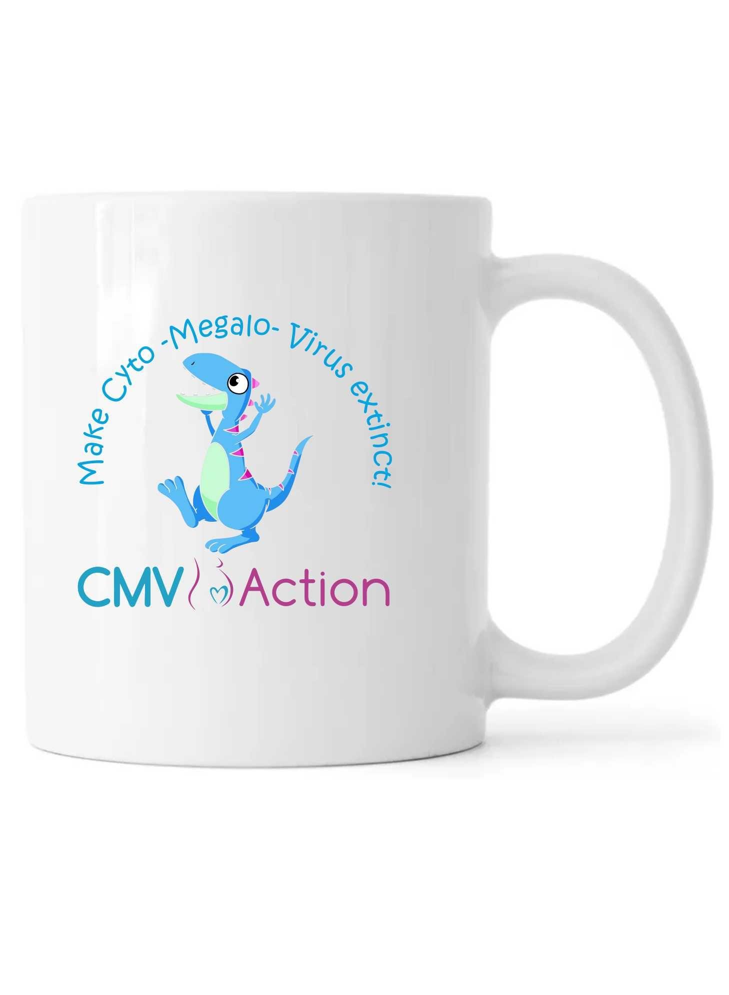 CMV- Blue Dinosaur Mug (White)