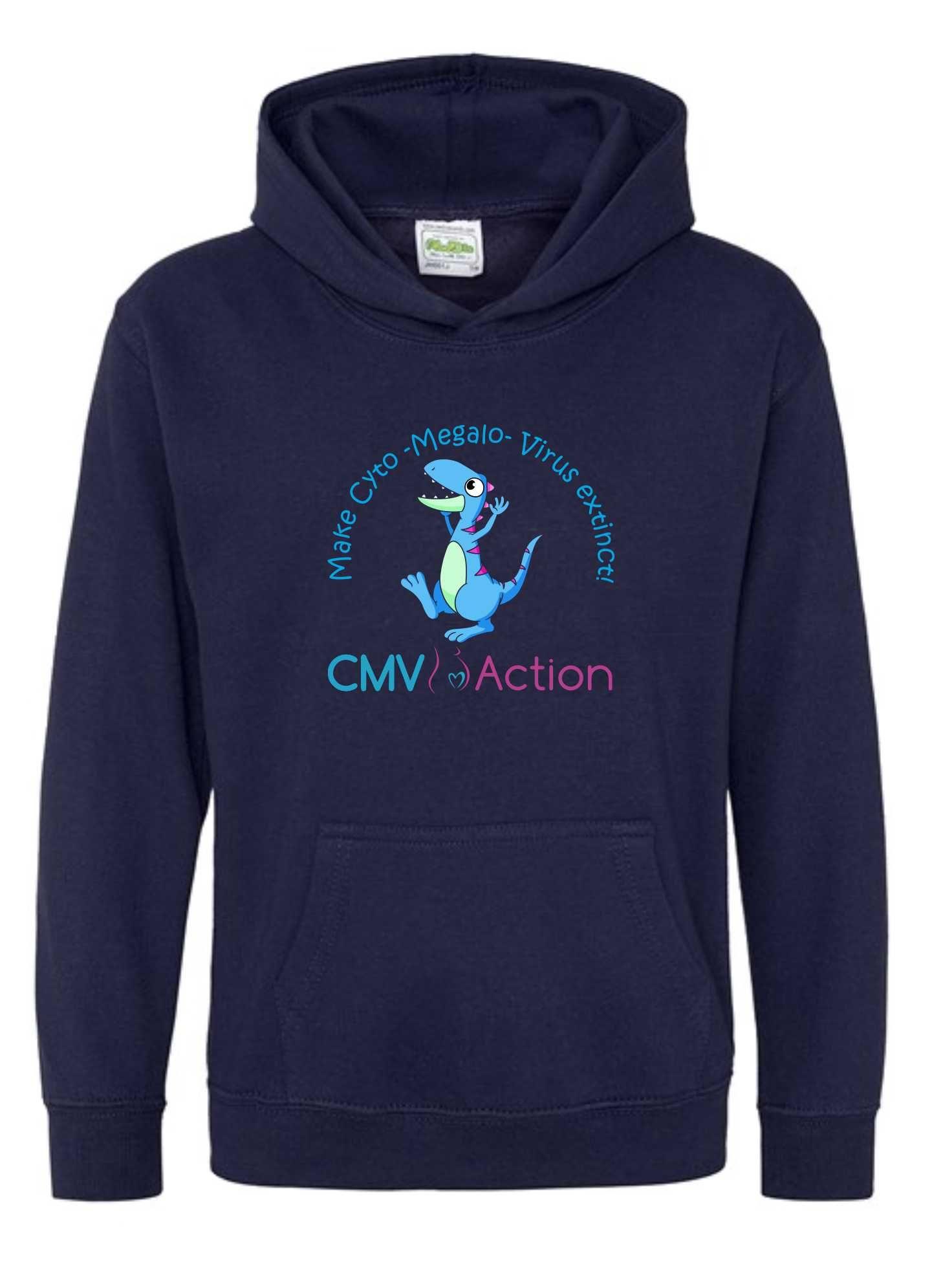 CMV- Blue Dinosaur Hoodie (Oxford Navy) (Kids)