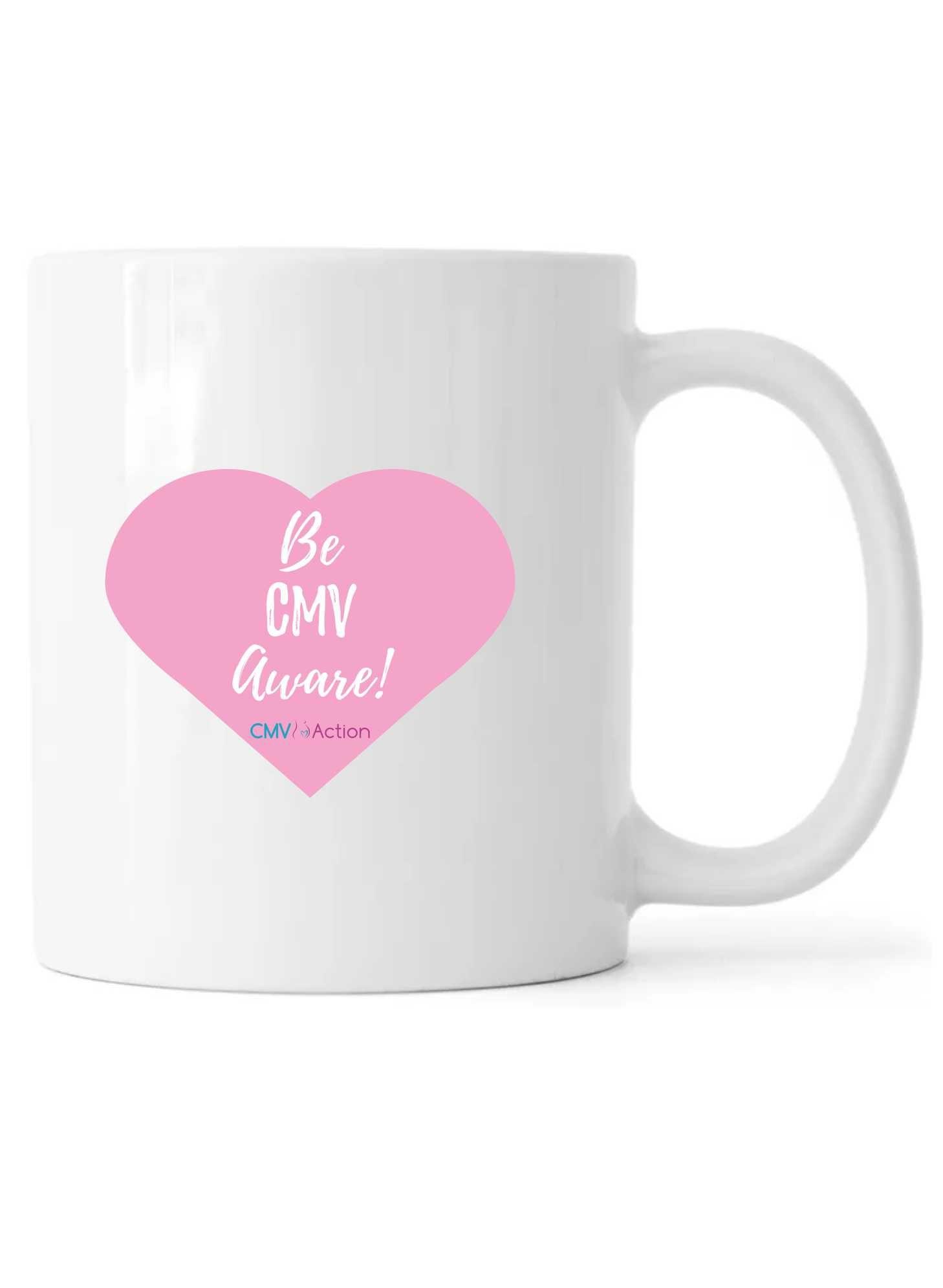 CMV- Pink Heart Mug (White)