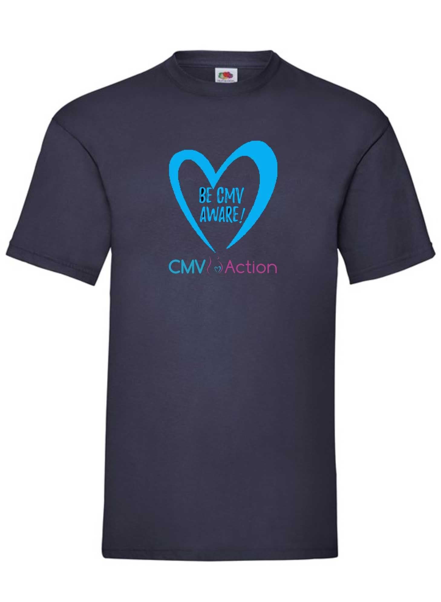 CMV- Blue Heart Tee (Navy) (Unisex)