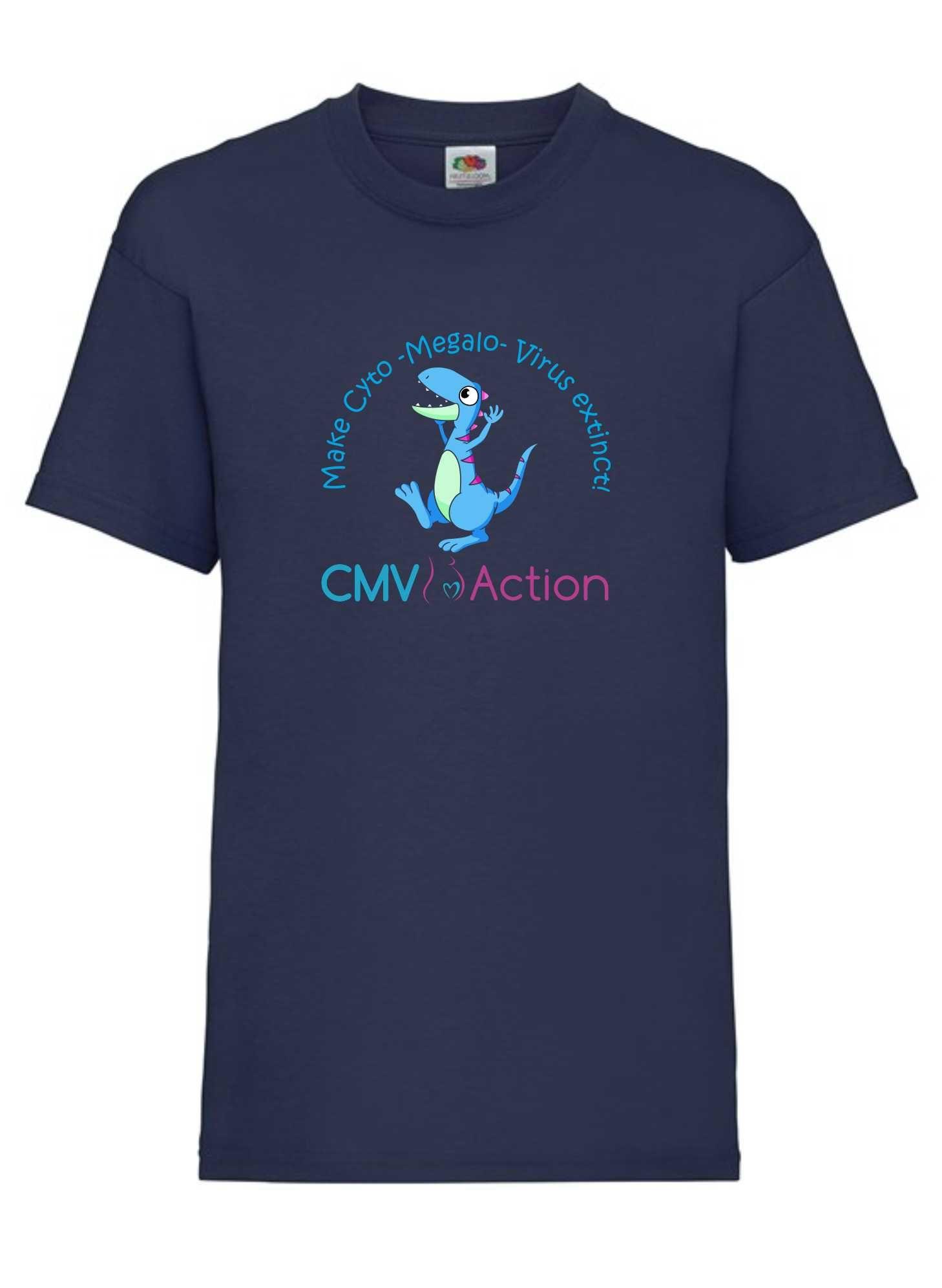 CMV- Blue Dinosaur Tee (Navy) (Kids)