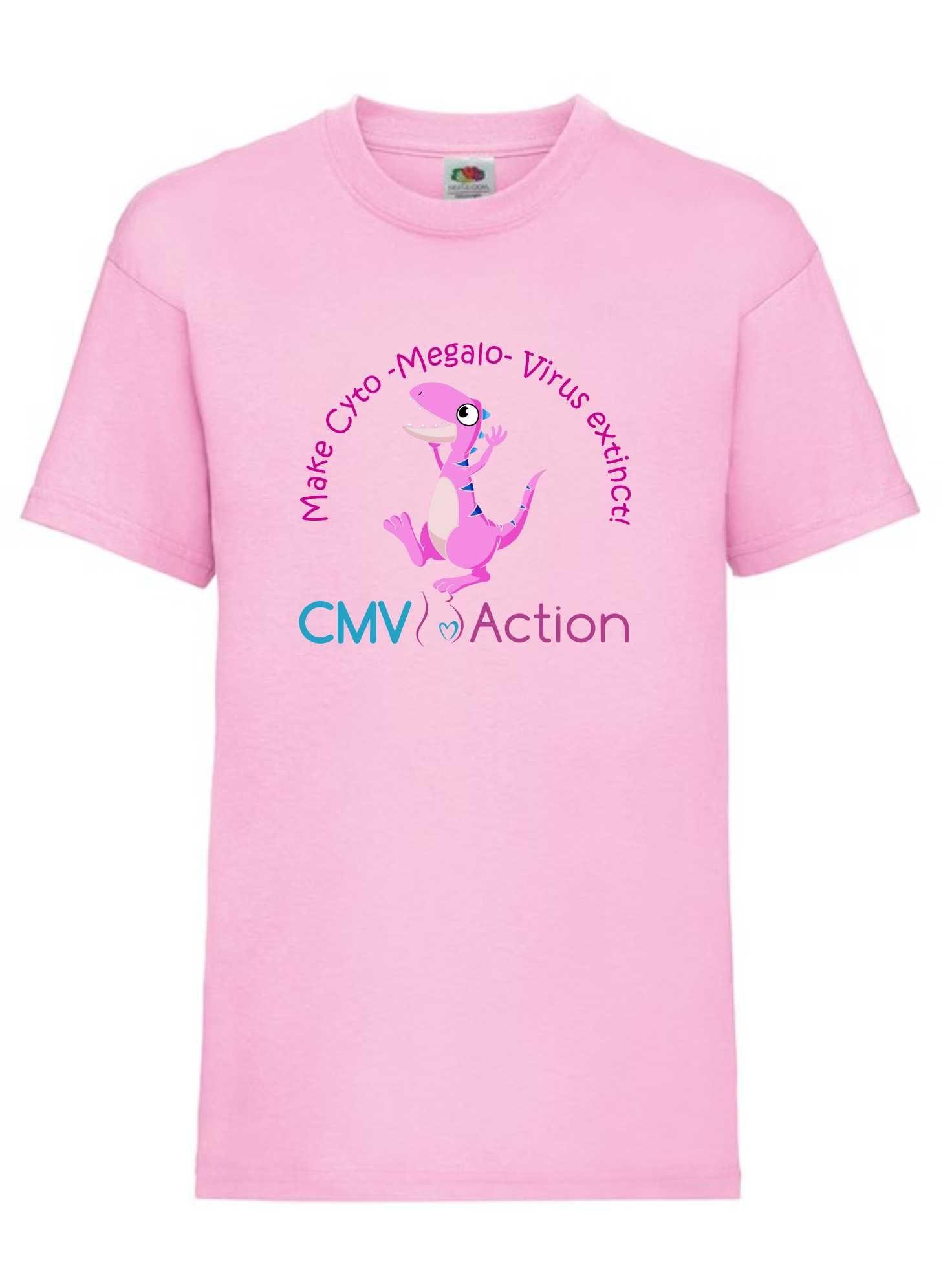 CMV- Pink Dinosaur Tee (Pink) (Kids)