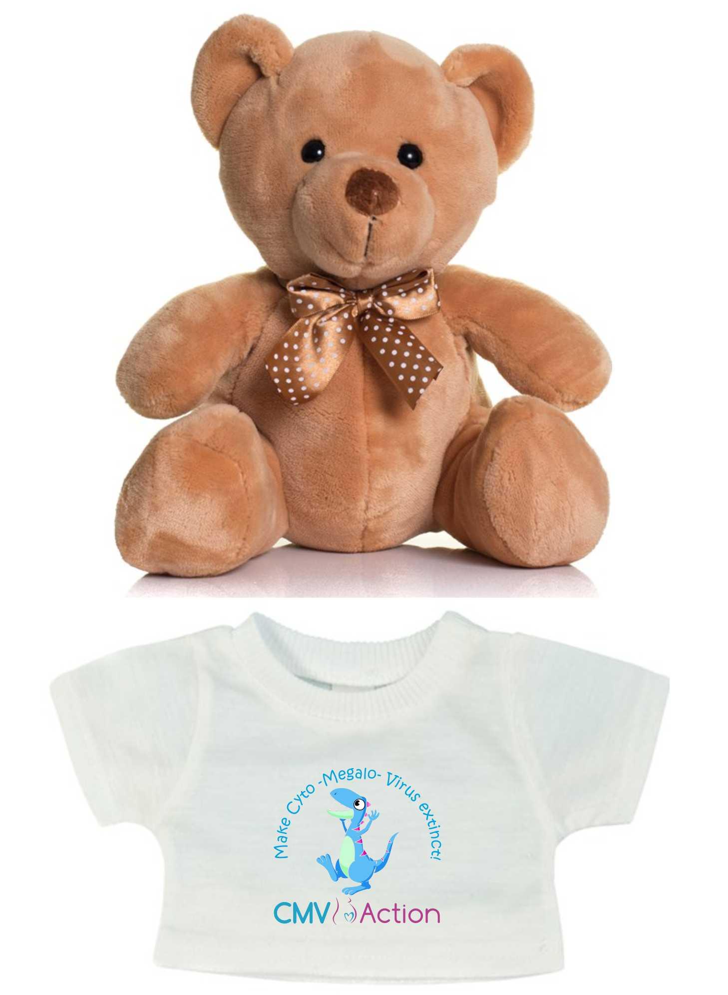 CMV- Teddy & T-shirt with Blue Dinosaur Print