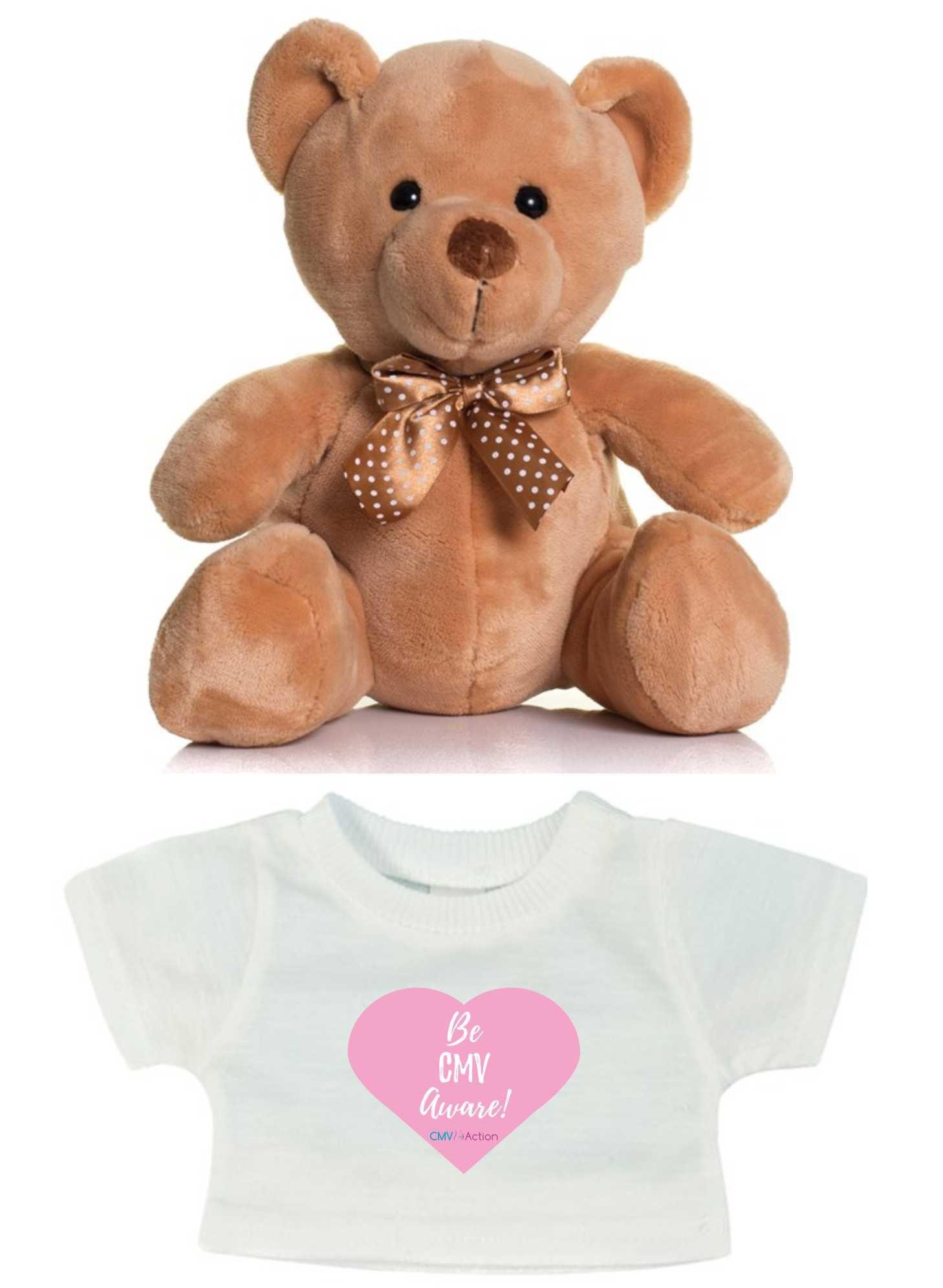 CMV- Teddy & T-shirt with Pink Heart Print