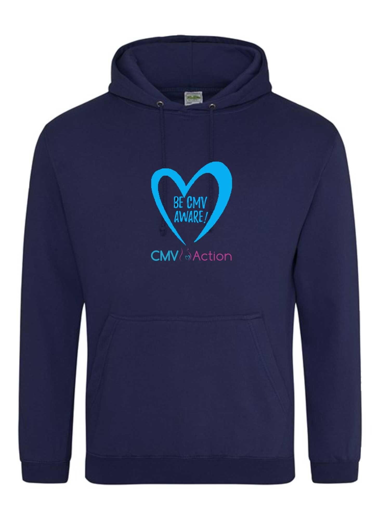 CMV- Blue Heart Hoodie (Oxford Navy) (Unisex)
