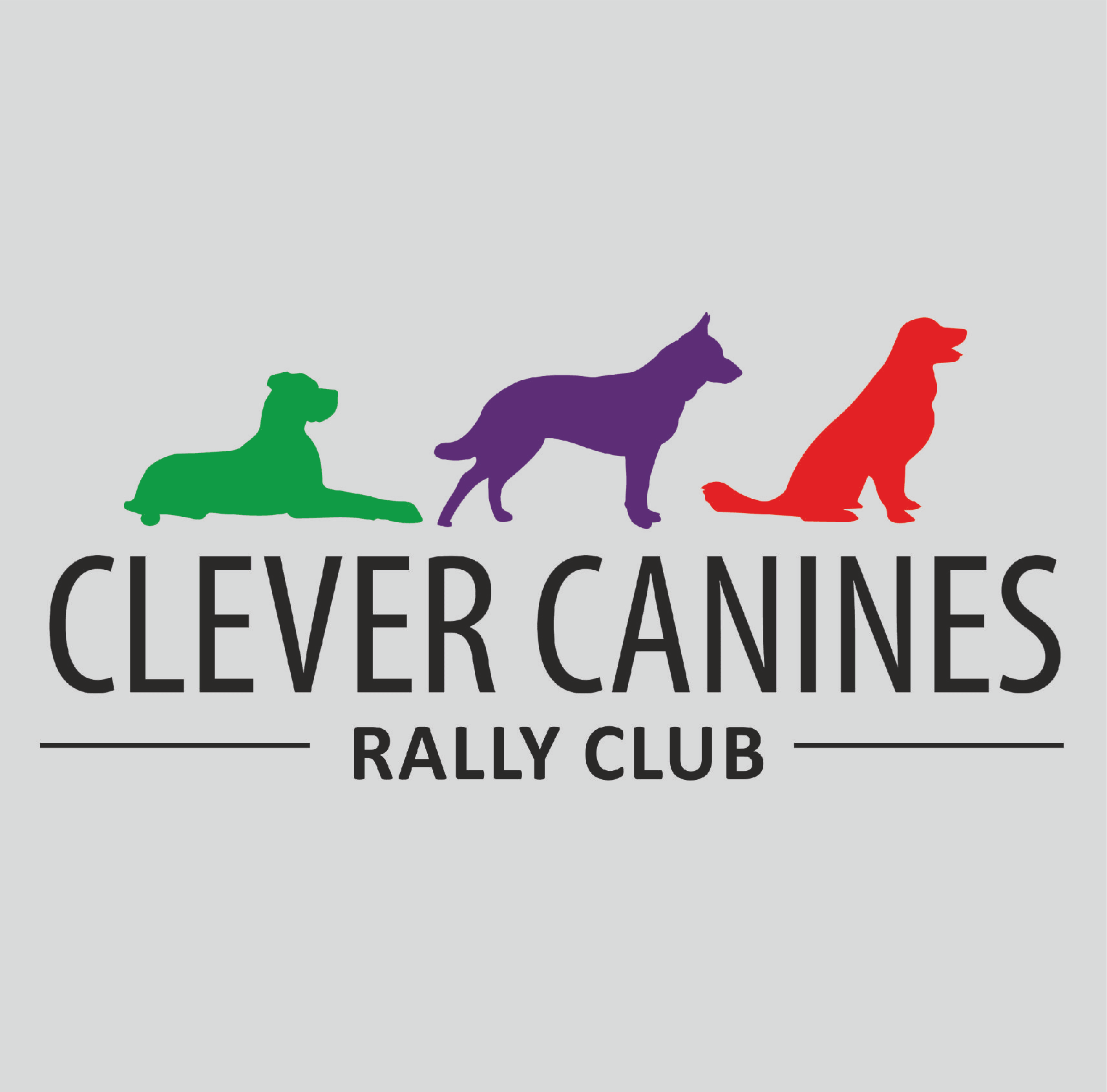 Clever canines logo sigma embroidery