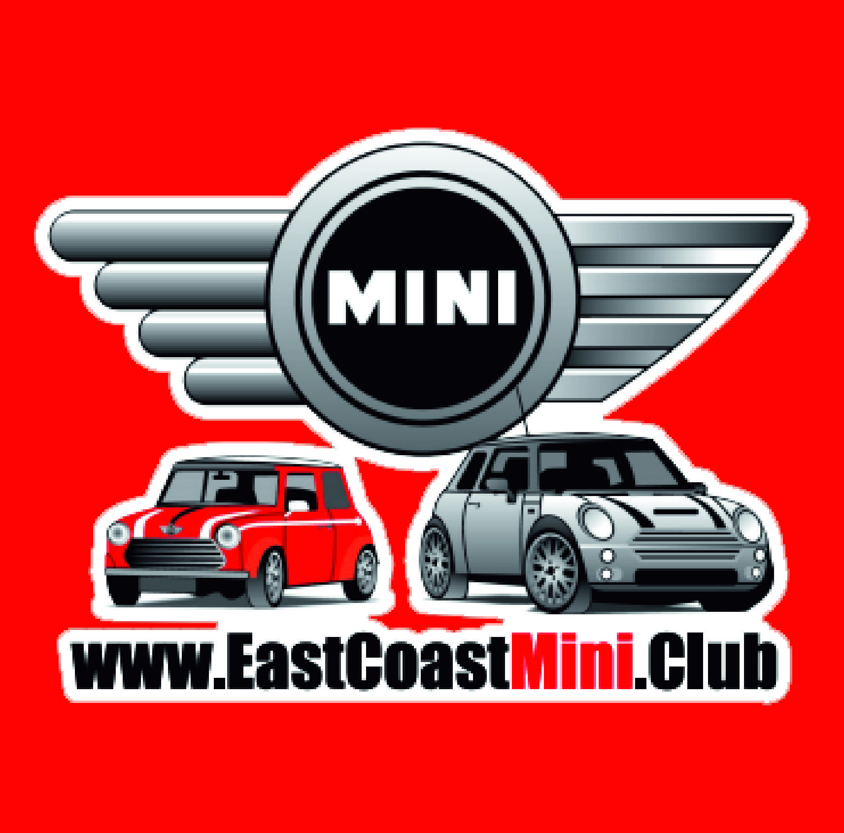 East coast mini club logo sigma embroidery