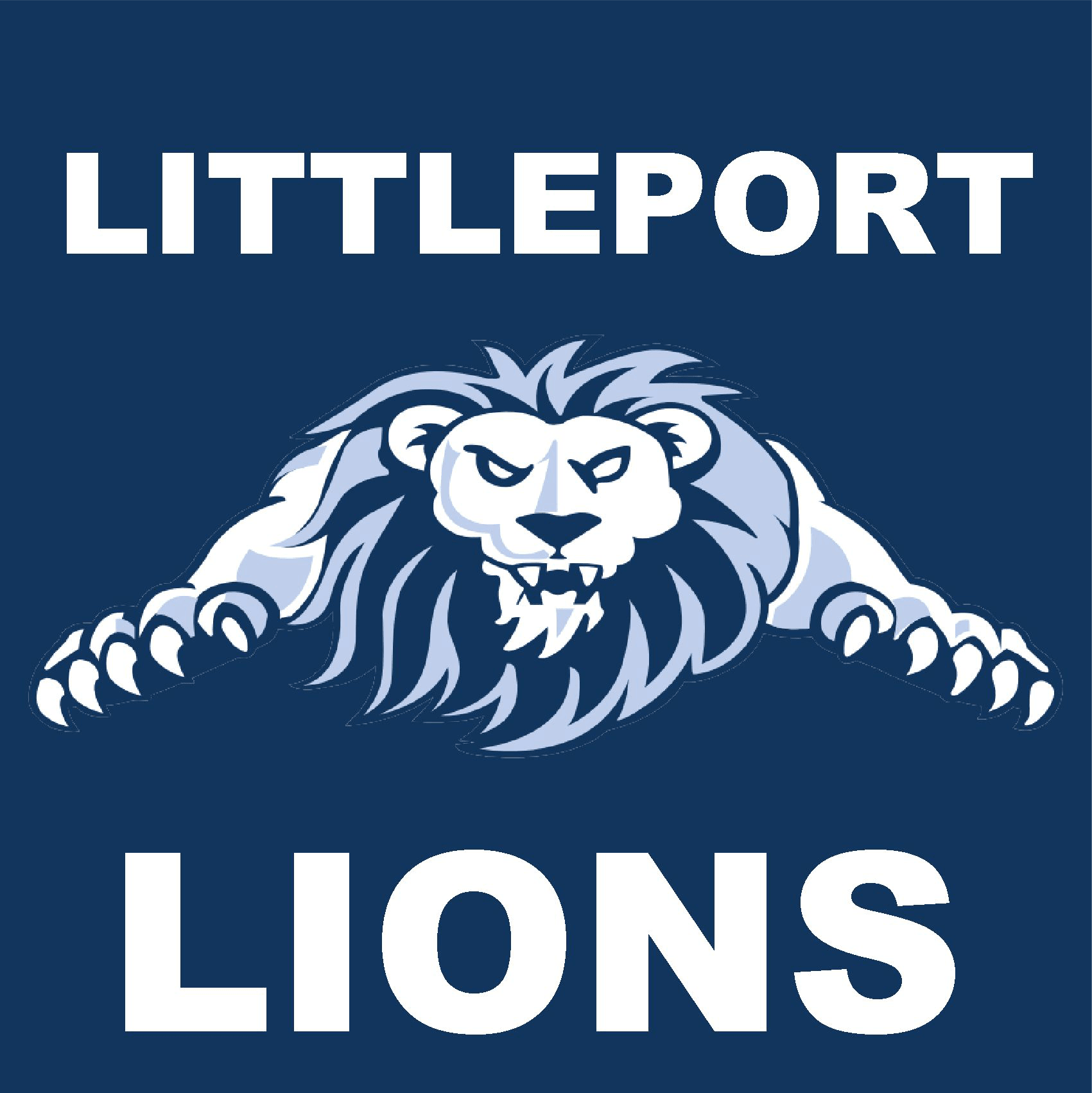 Littleport lions korfball logo sigma embroidery
