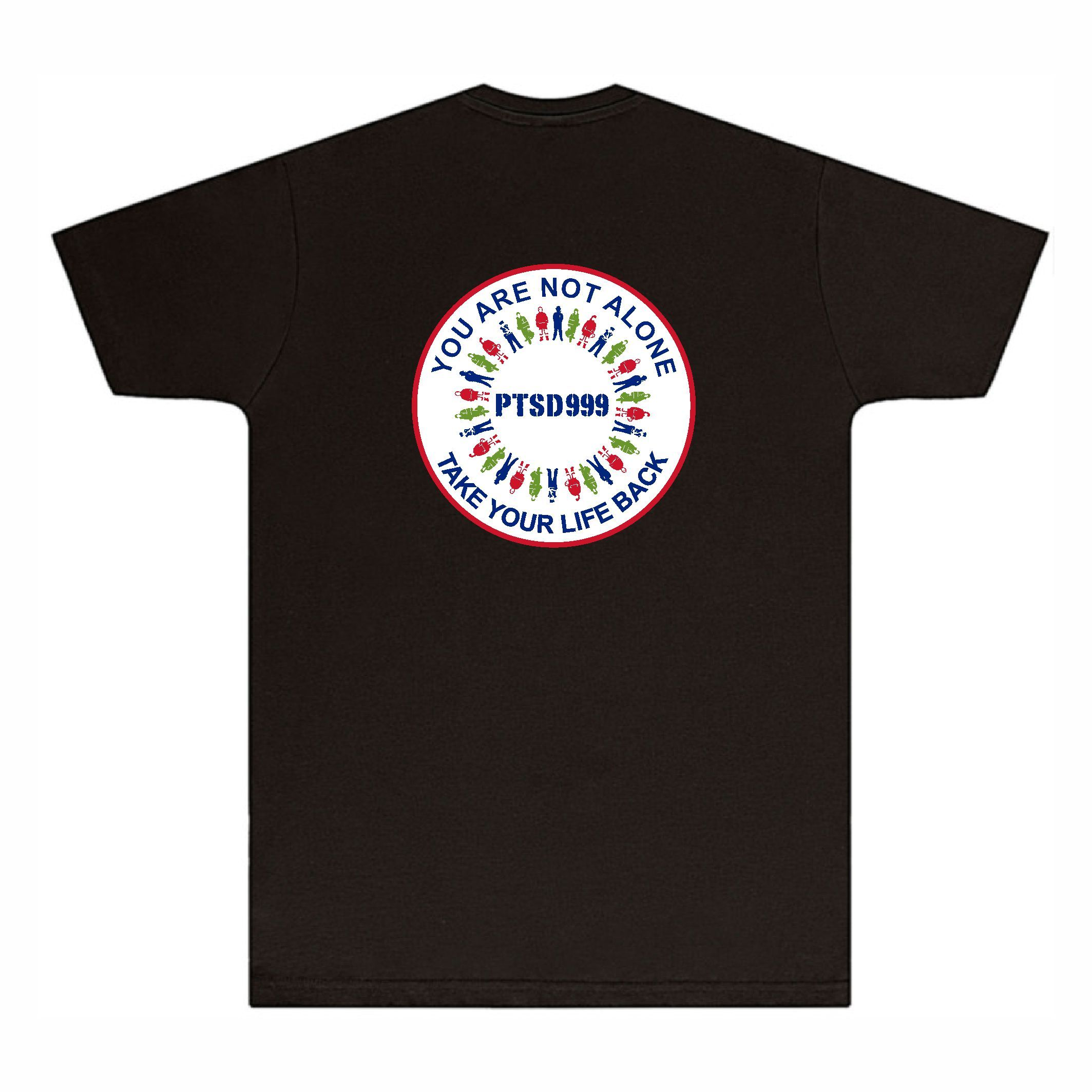 PTSD999- 'You Are Not Alone' Men's Tee