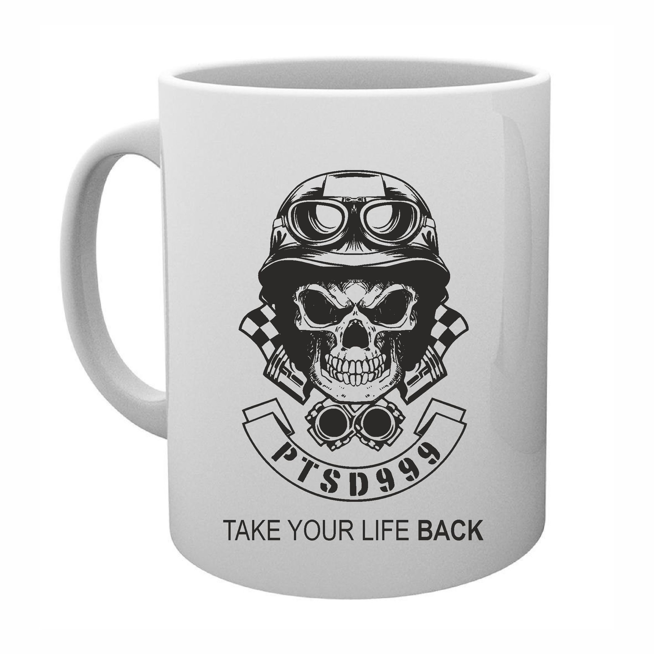 PTSD999- Black Dog Mug