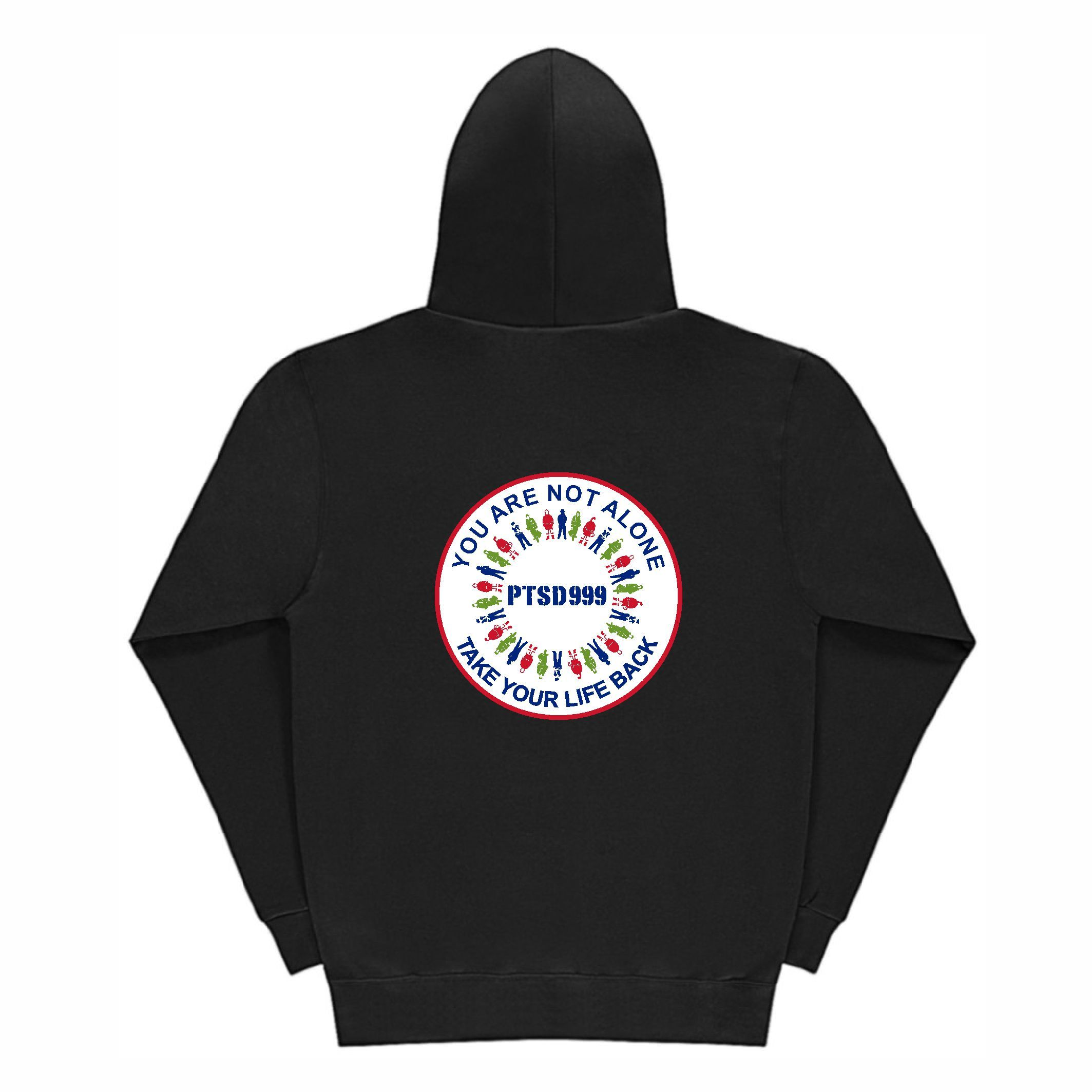 PTSD999- 'You Are Not Alone' Ladies Hoodie