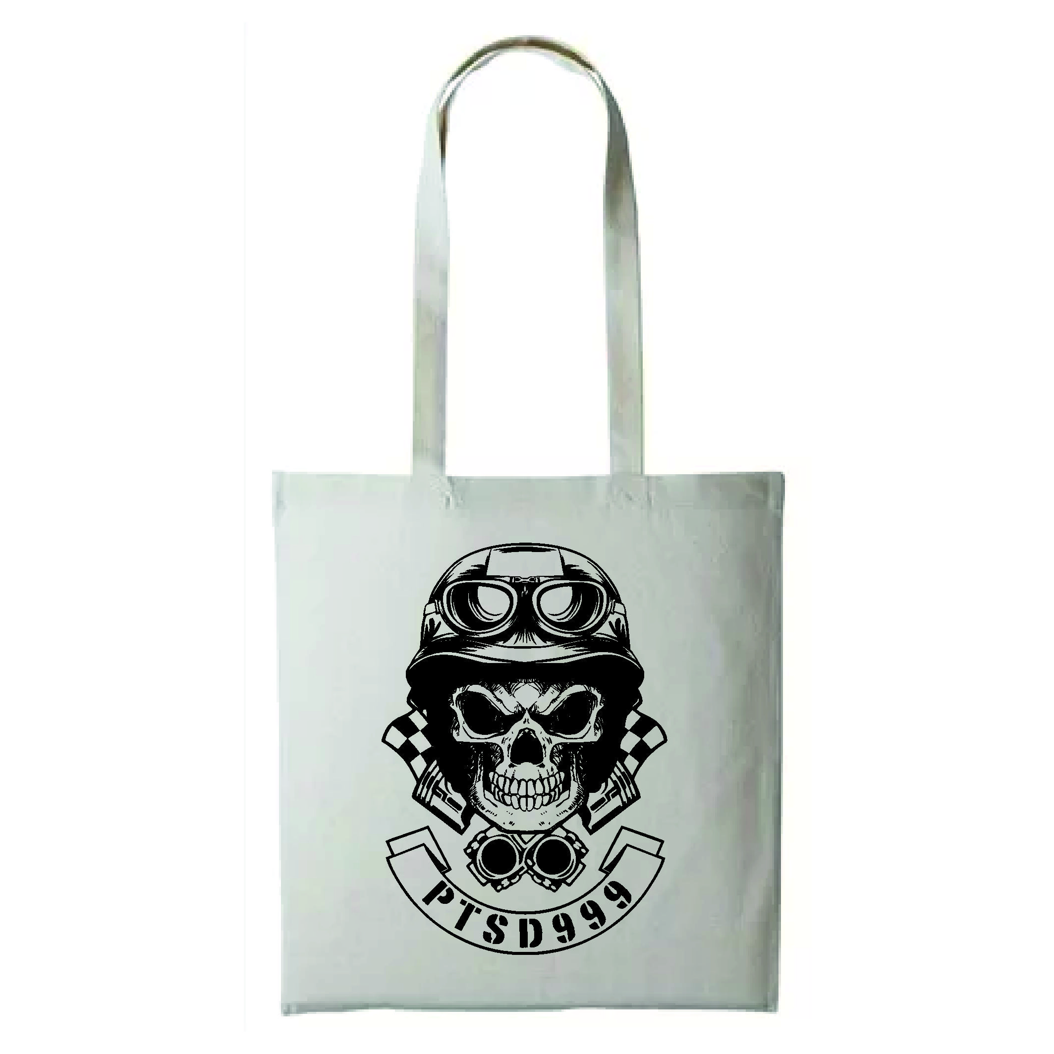 PTSD999- Black Dog Shopper Bag