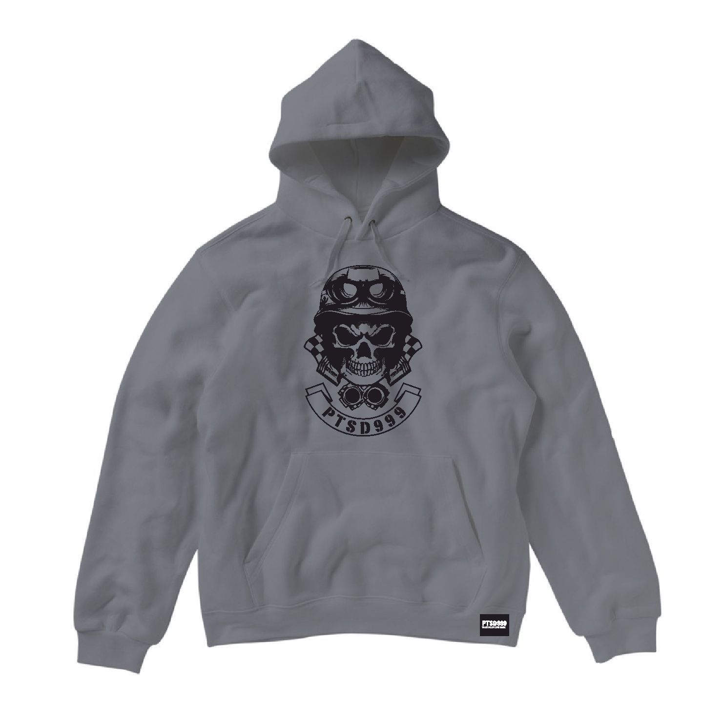 LIMITED EDITION: PTSD999- Men's Black Dog Hoodie