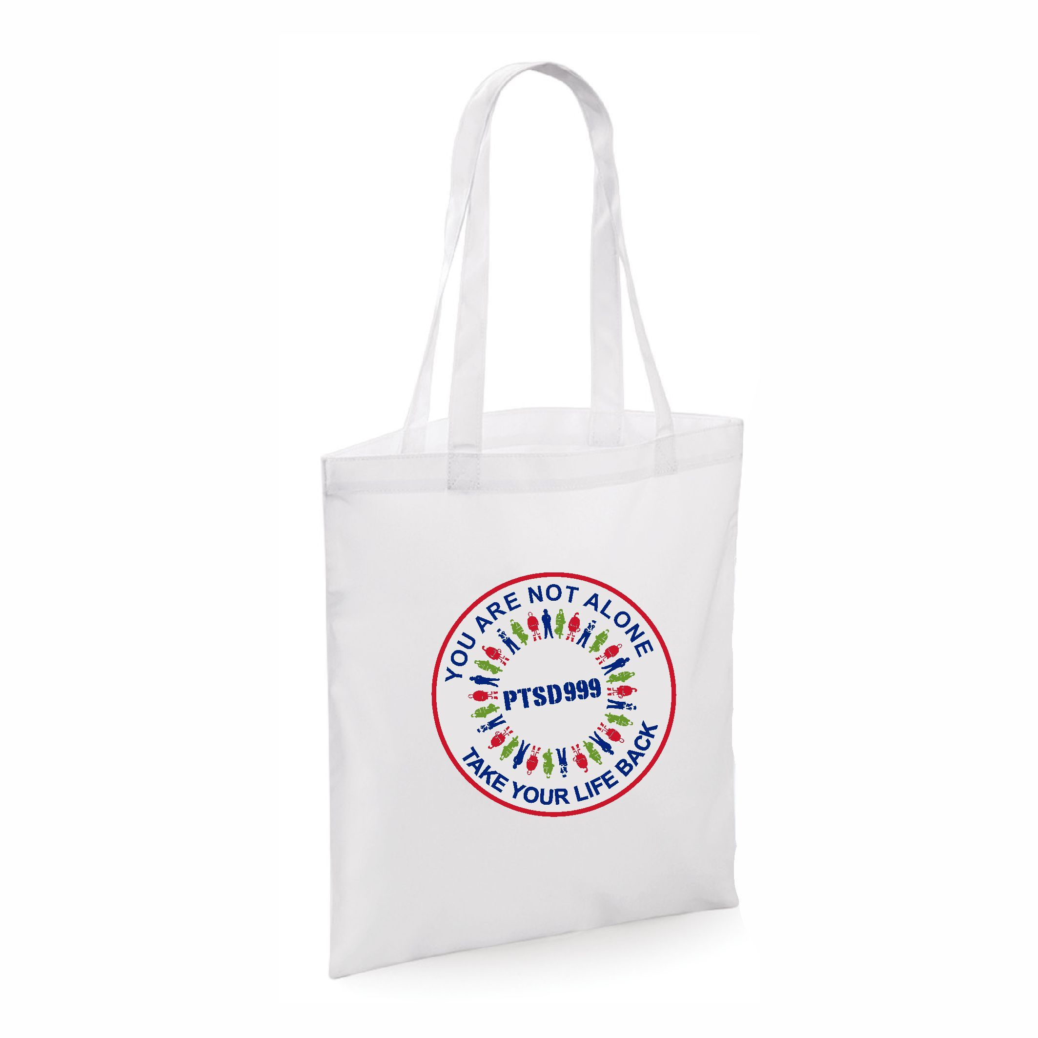 PTSD999- 'You Are Not Alone' Tote Bag