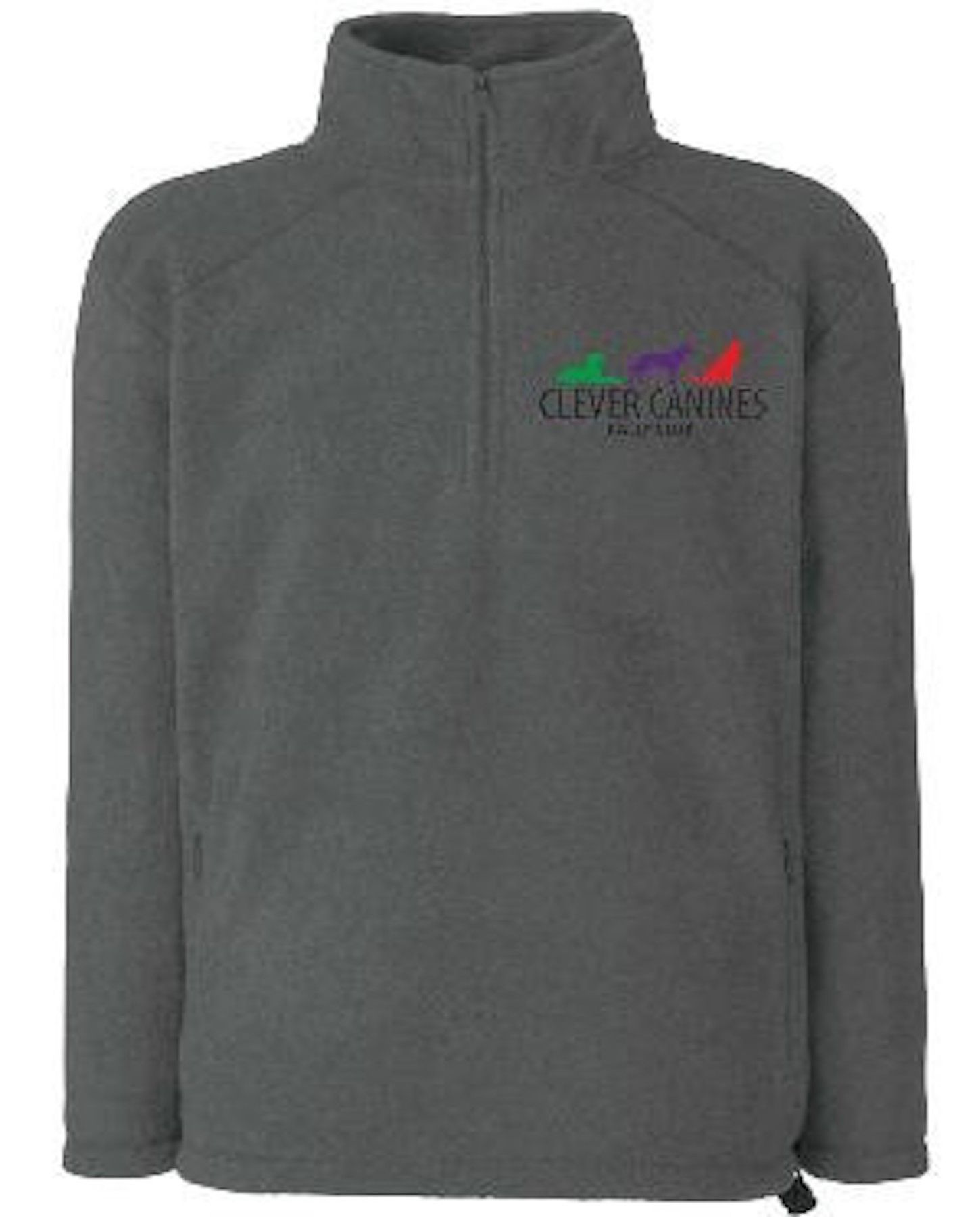Clever Canines Rally Club Unisex Half-Zip Fleece
