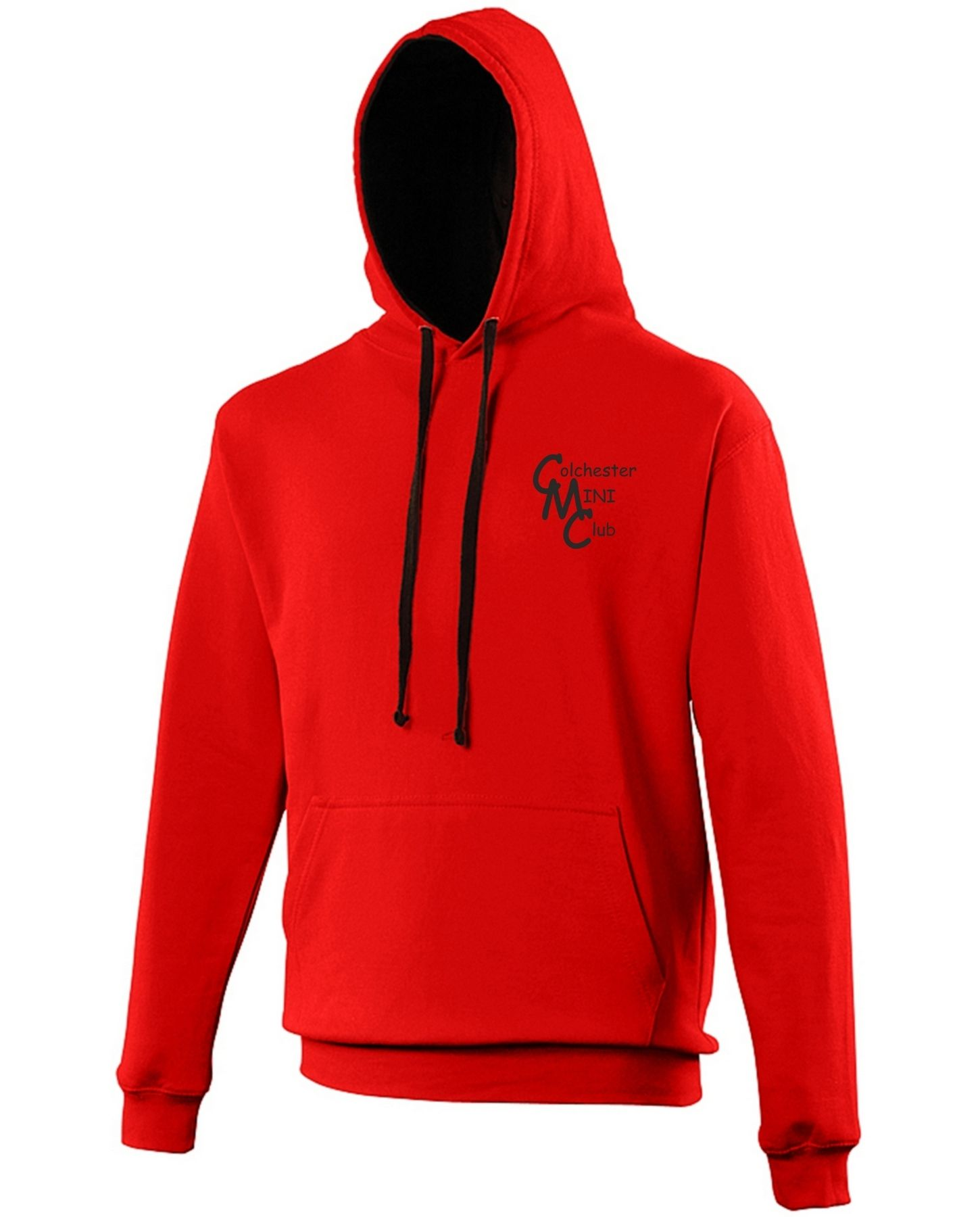 CMC – Varsity Hoodie in Fire Red/Black