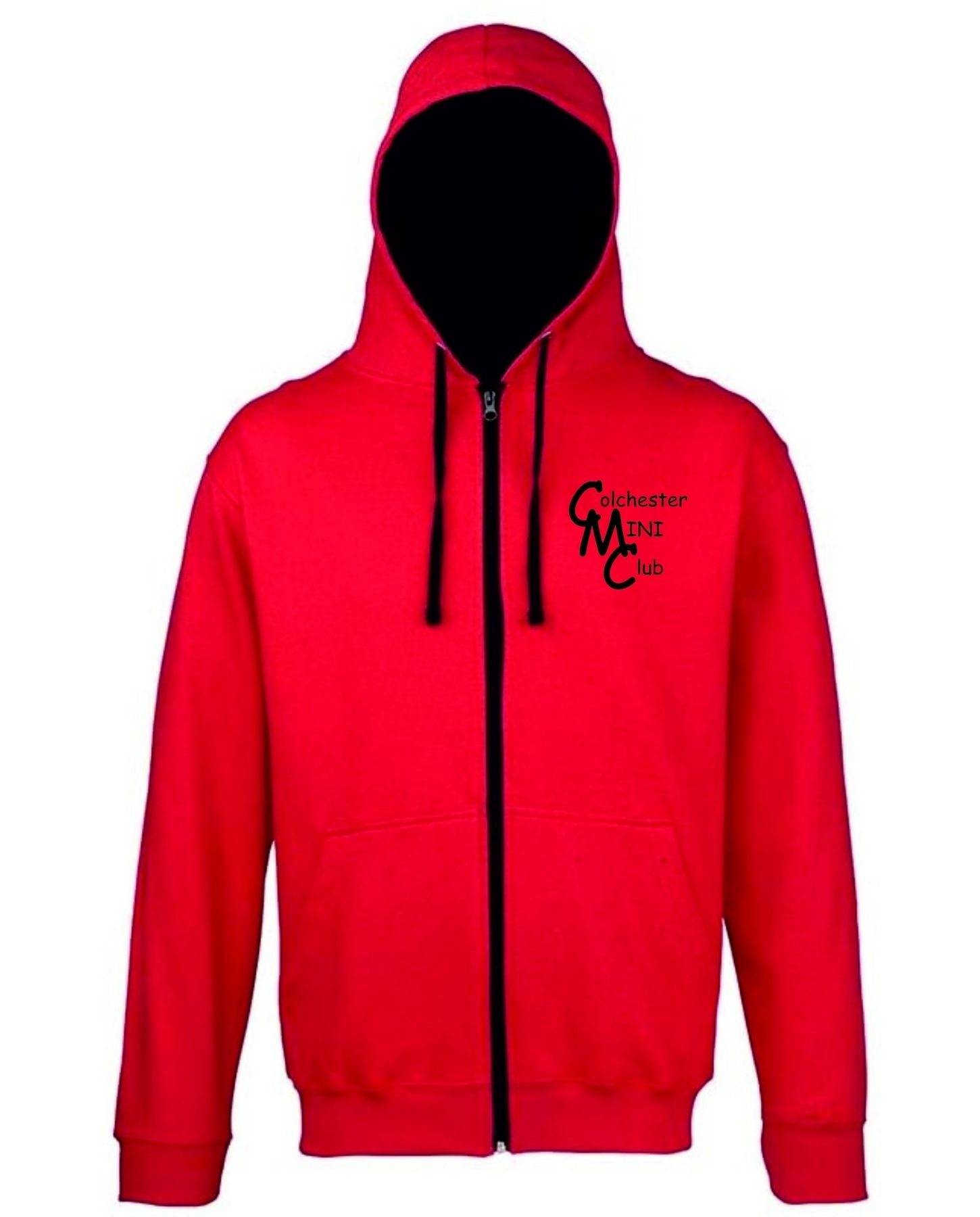 CMC – Varsity Zip Hoodie in Fire Red/Black