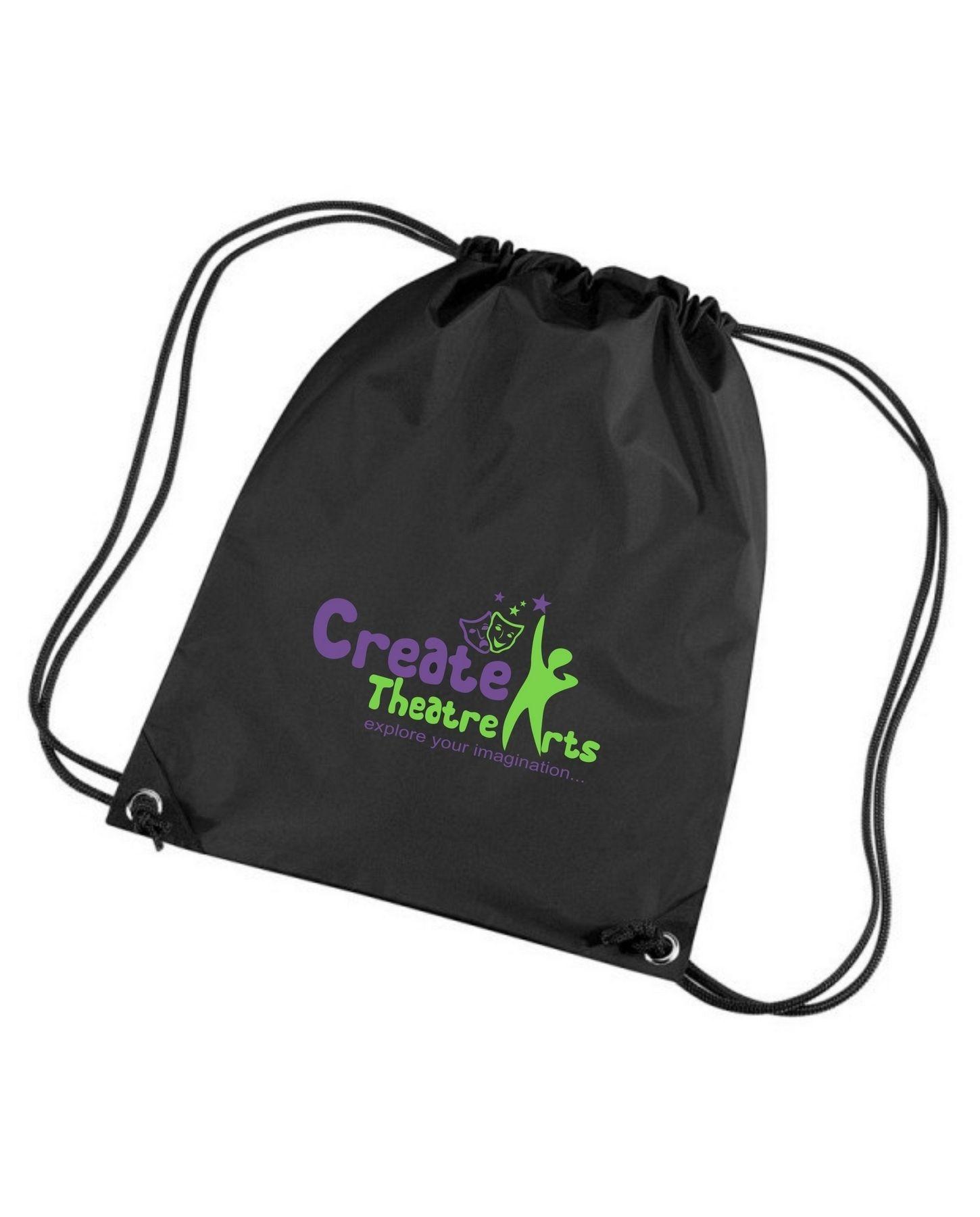 Create Theatre – Black Drawstring Bag