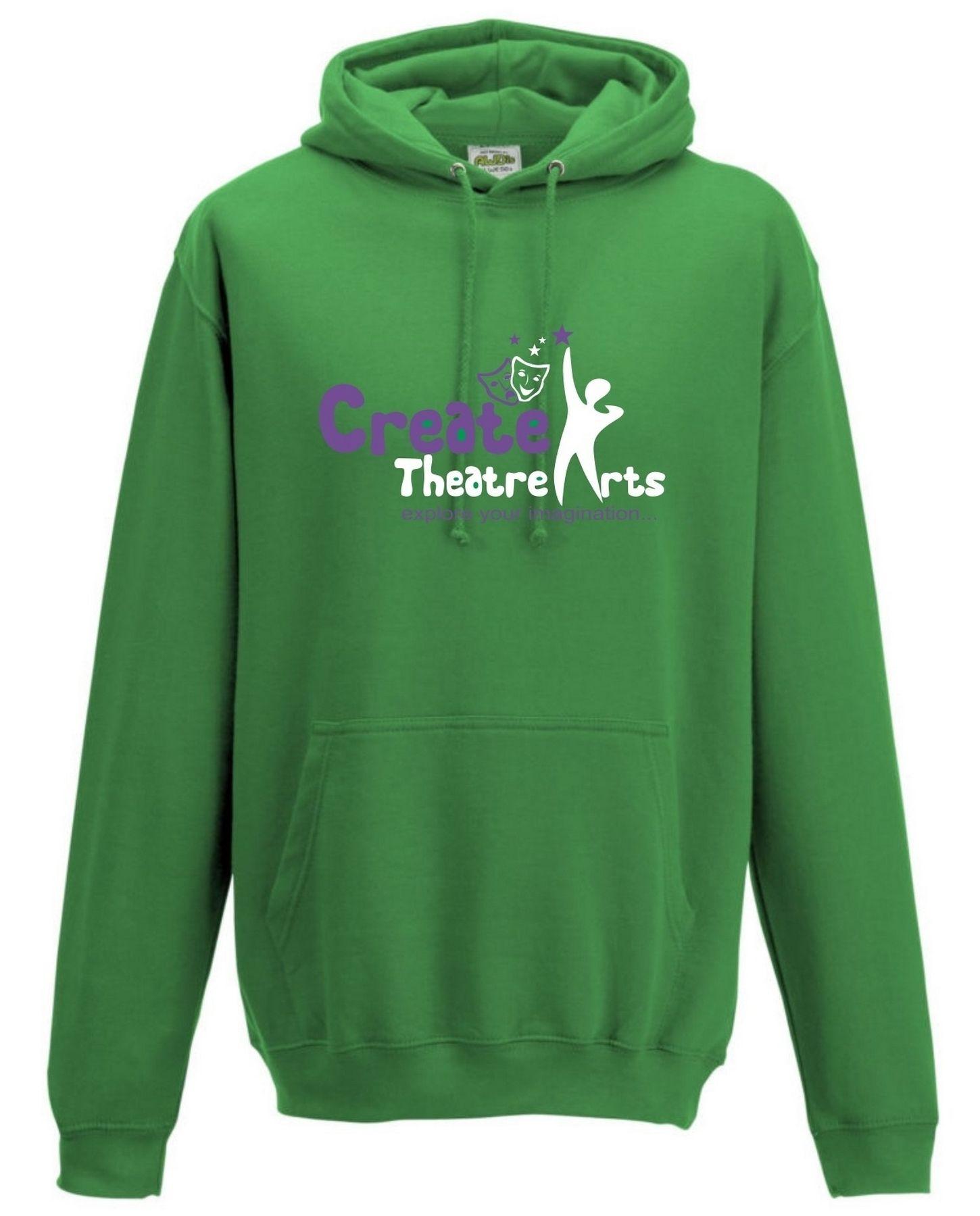 Create Theatre – Green Kids Hoodie