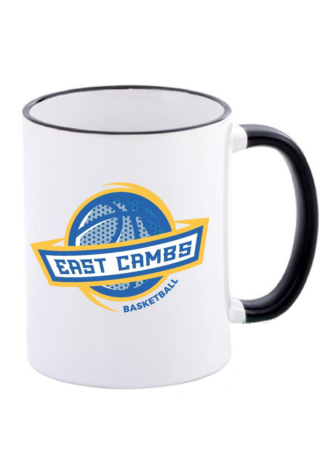 Warriors - Black Rim Mug (Globe Logo)