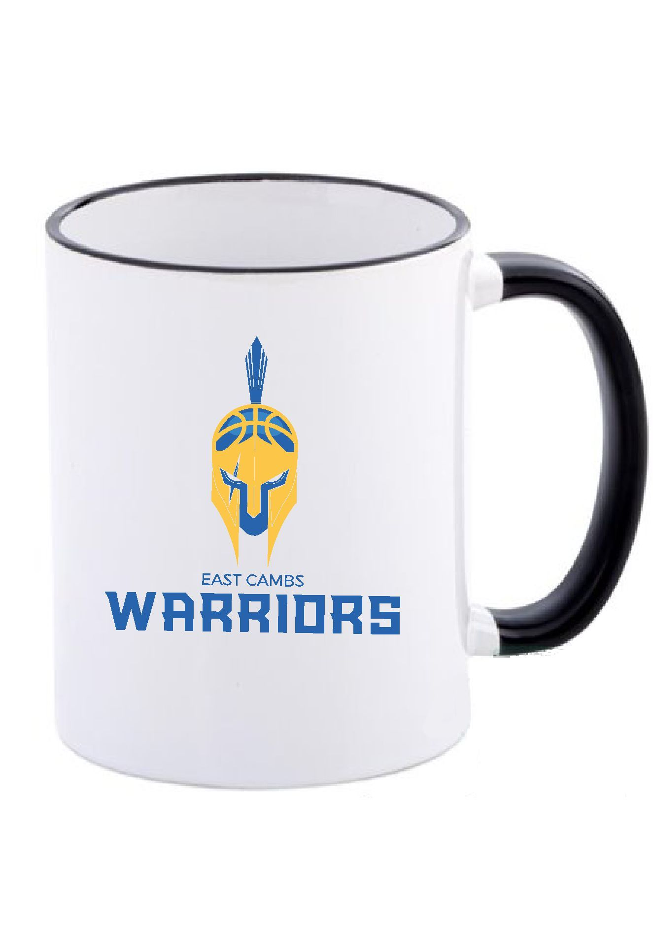 Warriors - Black Rim Mug (Warriors Logo)