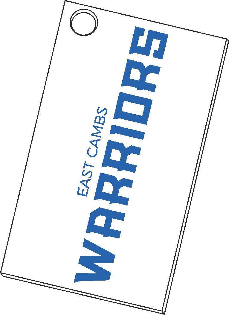Warriors - Keyring (White)