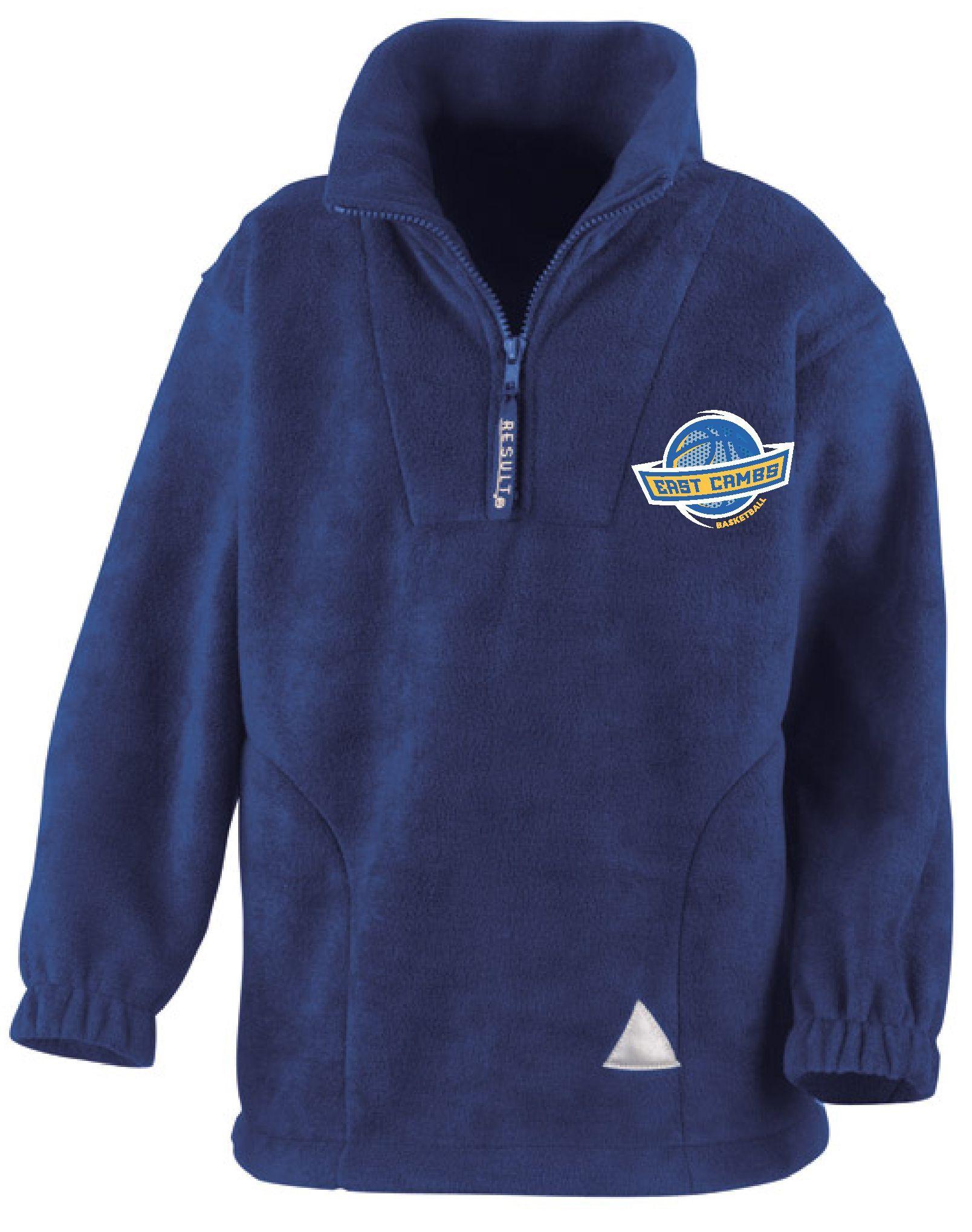 Warriors - Kids Quarter Zip Fleece (Royal Blue)
