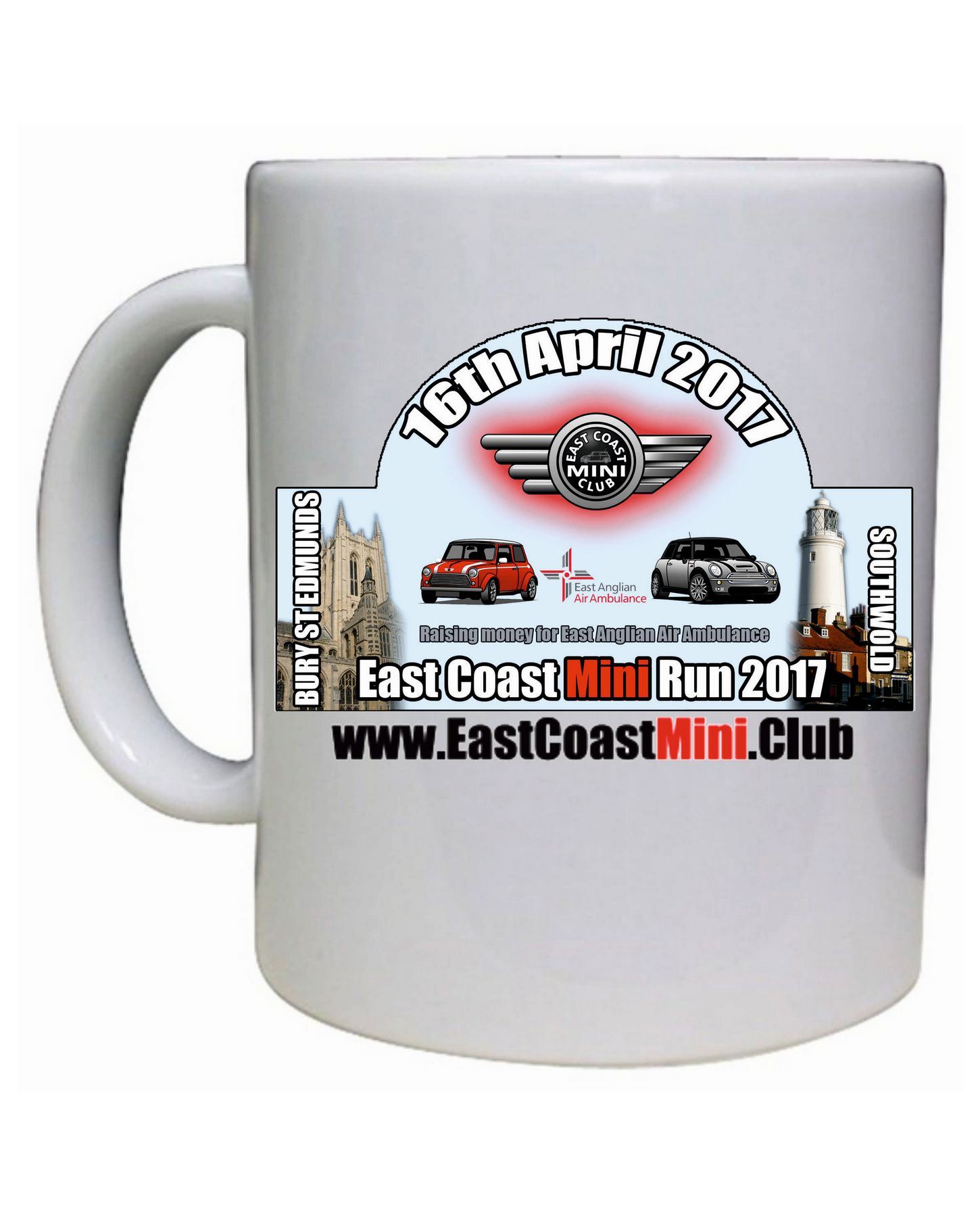 East Coast Mini Club – Run Plaque Mug
