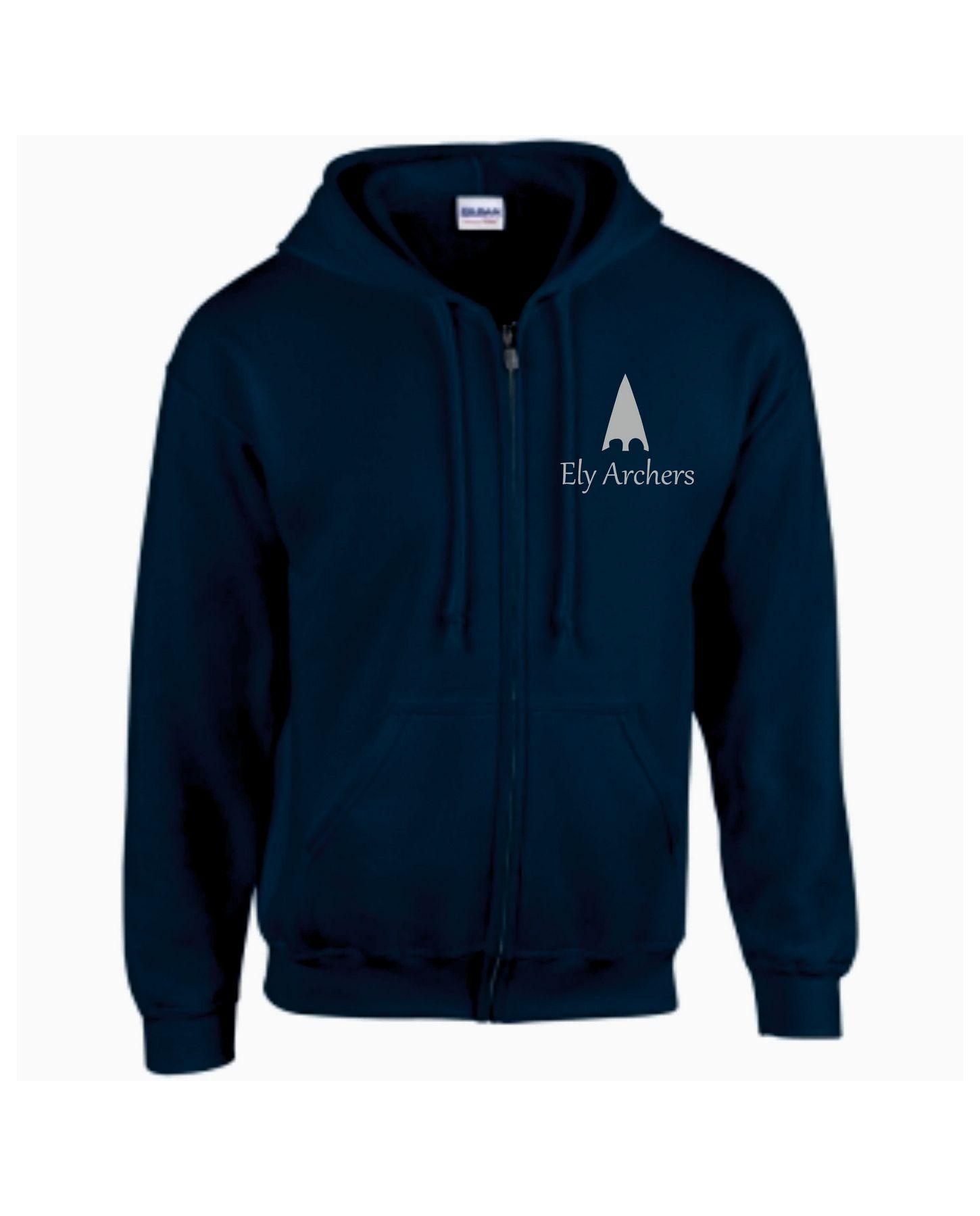 Ely Archers Unisex Zip Up Hooded Sweatshirt