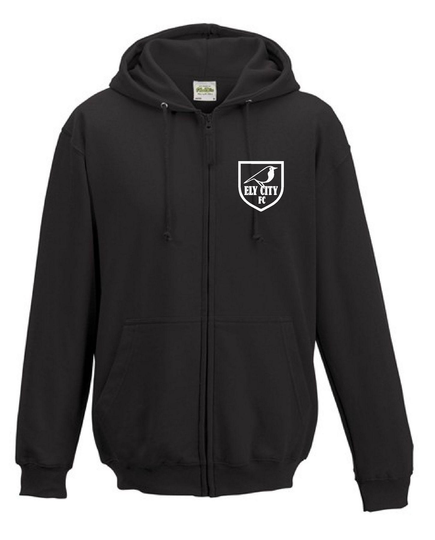 ECFC – Zip Hoodie in Black