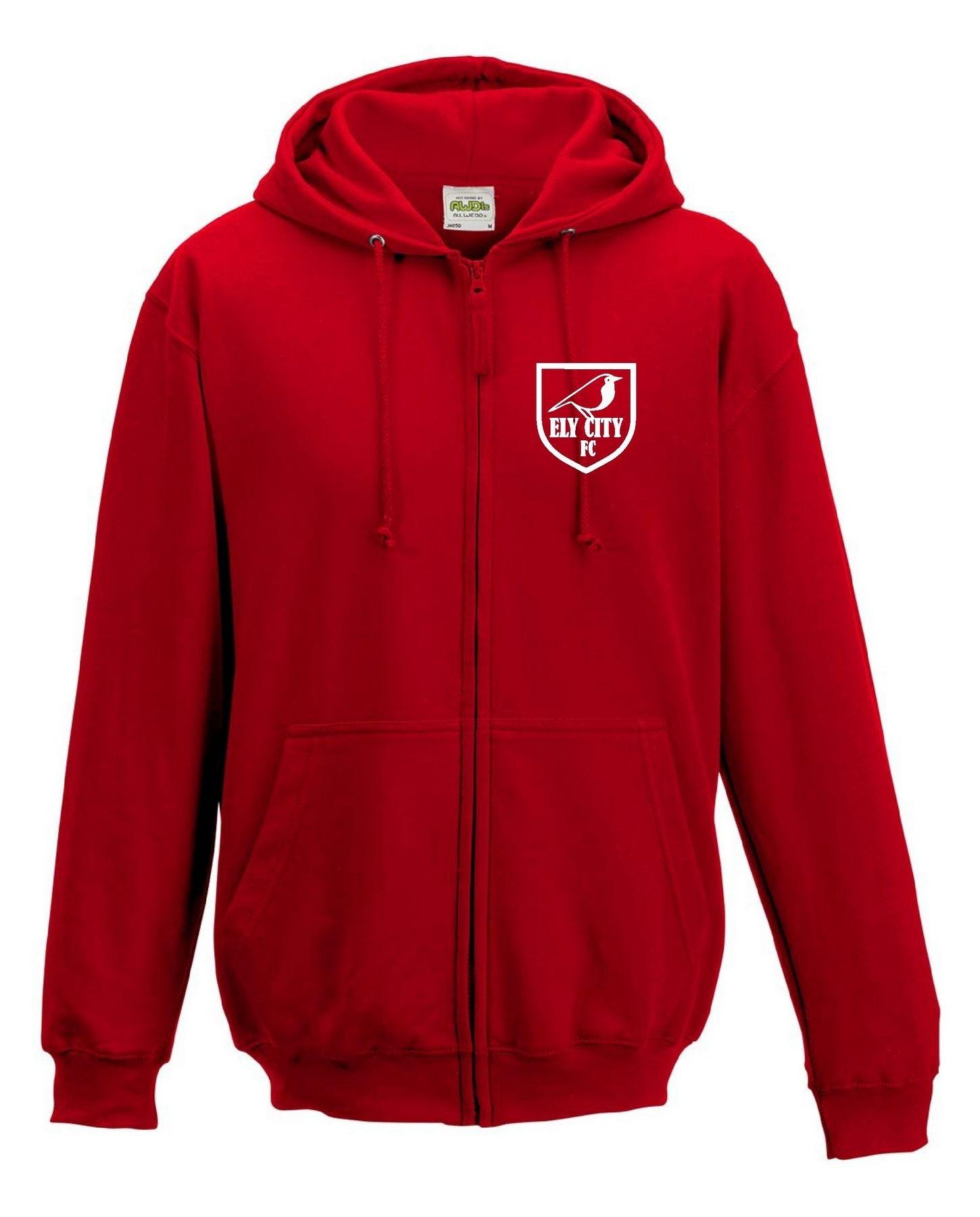 ECFC – Zip Hoodie in Red