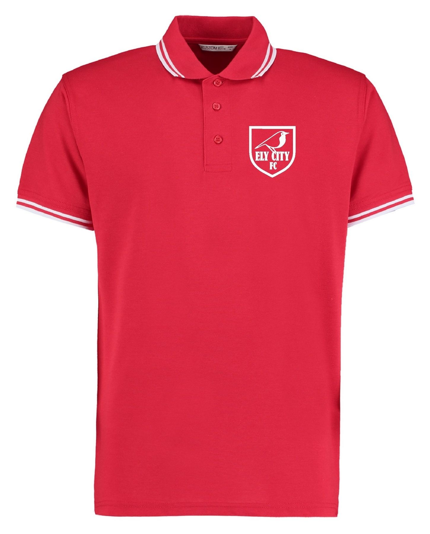 ECFC – Tipped Polo Shirt in Red