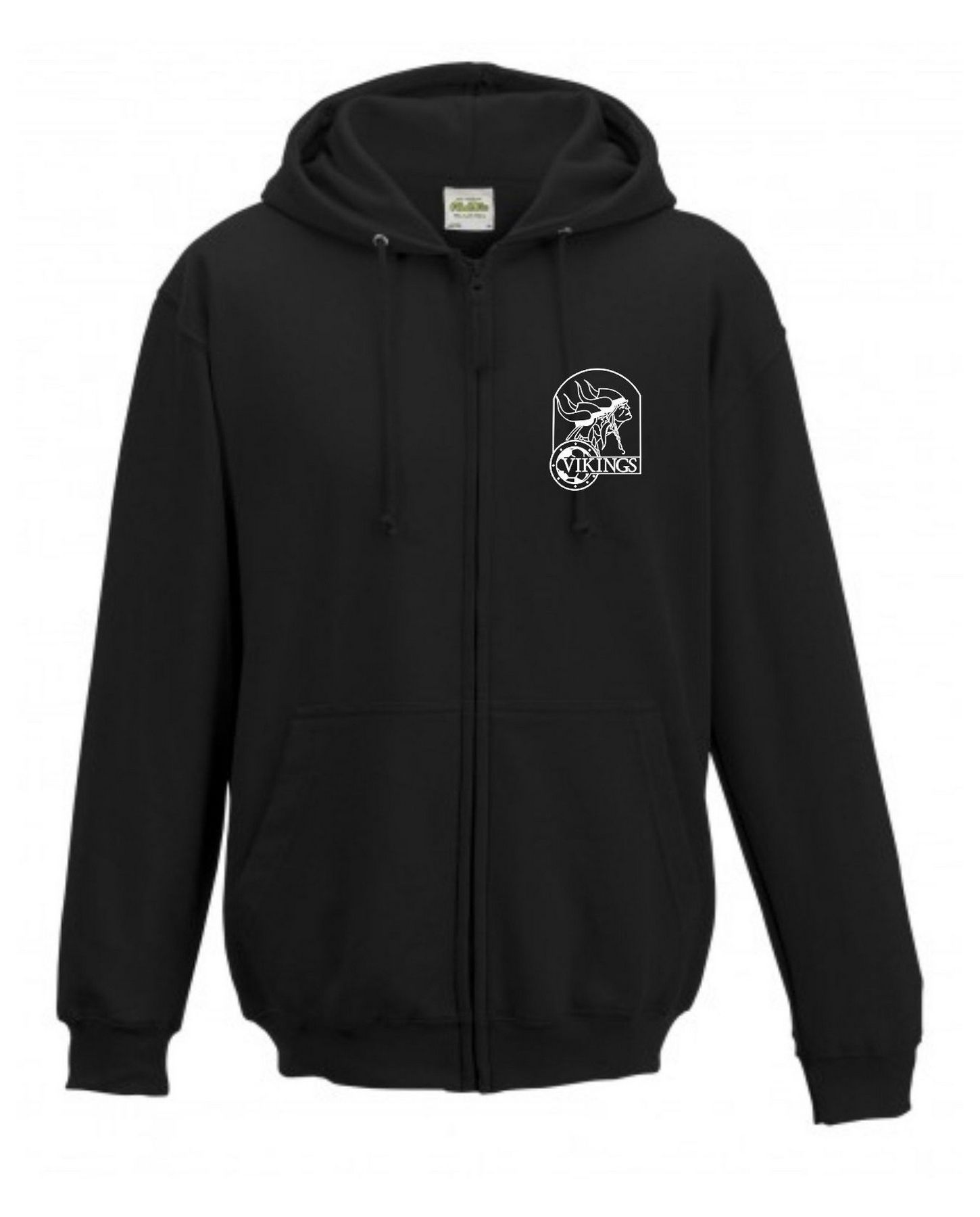 Vikings Hoodie with Zip Adult