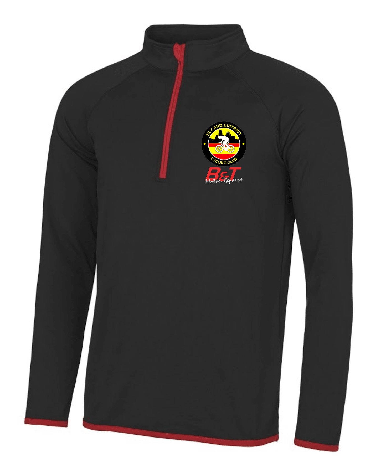 EDCC – Cool 1/2 Zip Sweatshirt in Black/Red