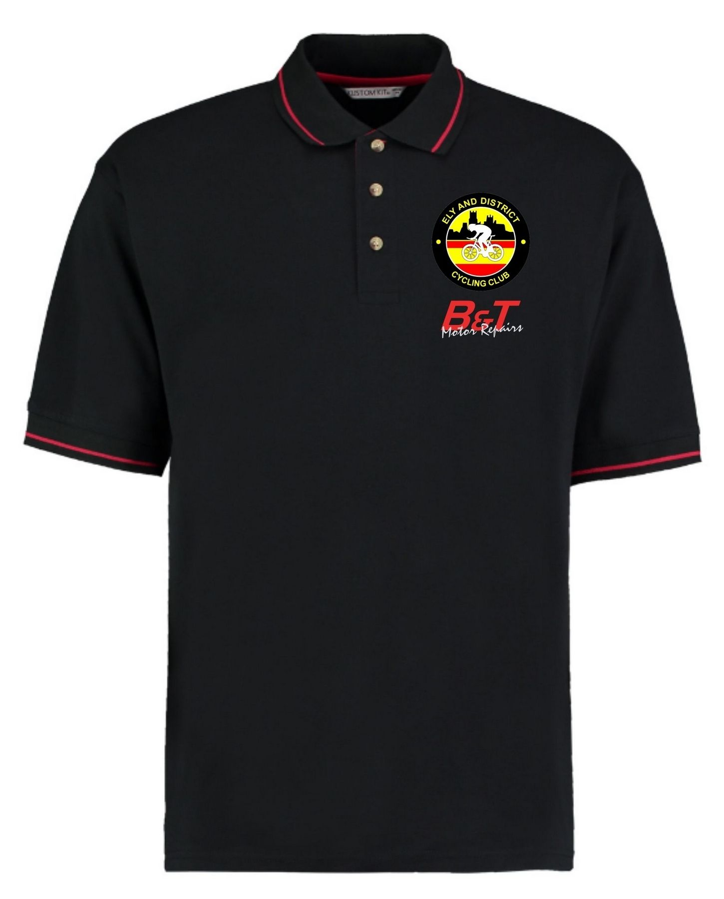 EDCC – Contrast Polo in Black