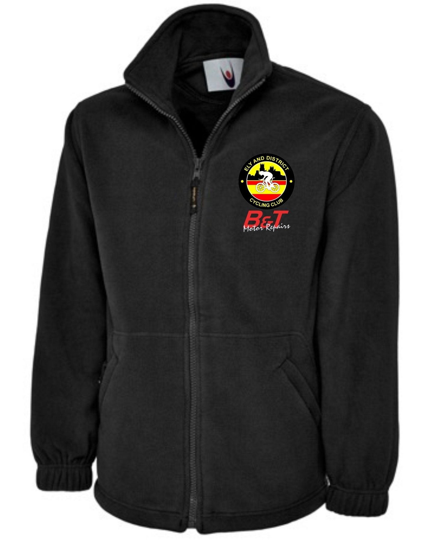 EDCC – Full Zip Fleece in Black
