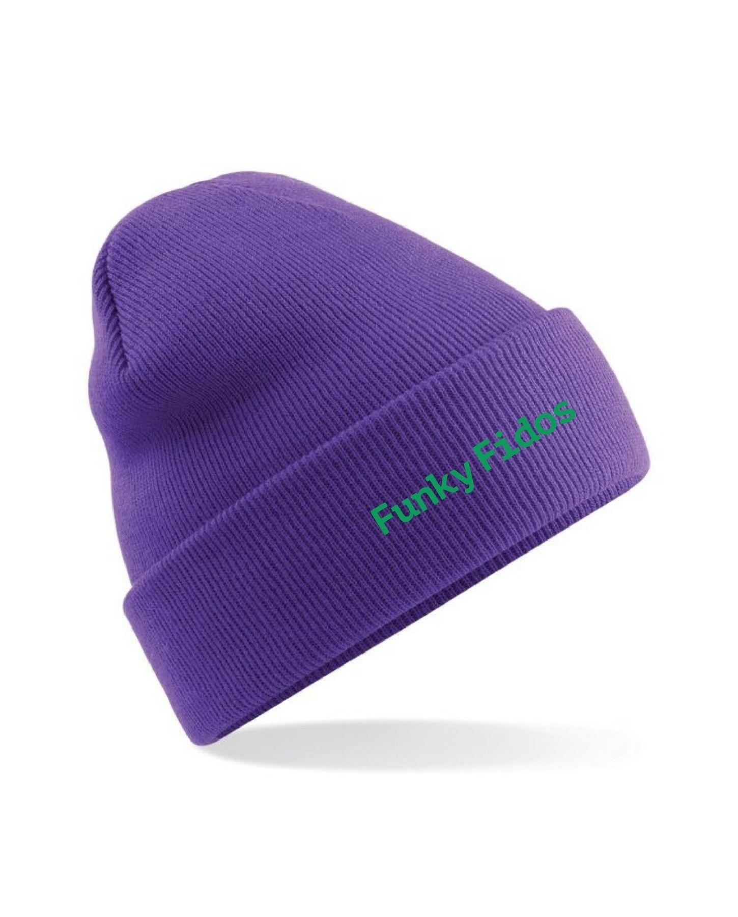 Funky Fidos – Beanie (Purple)