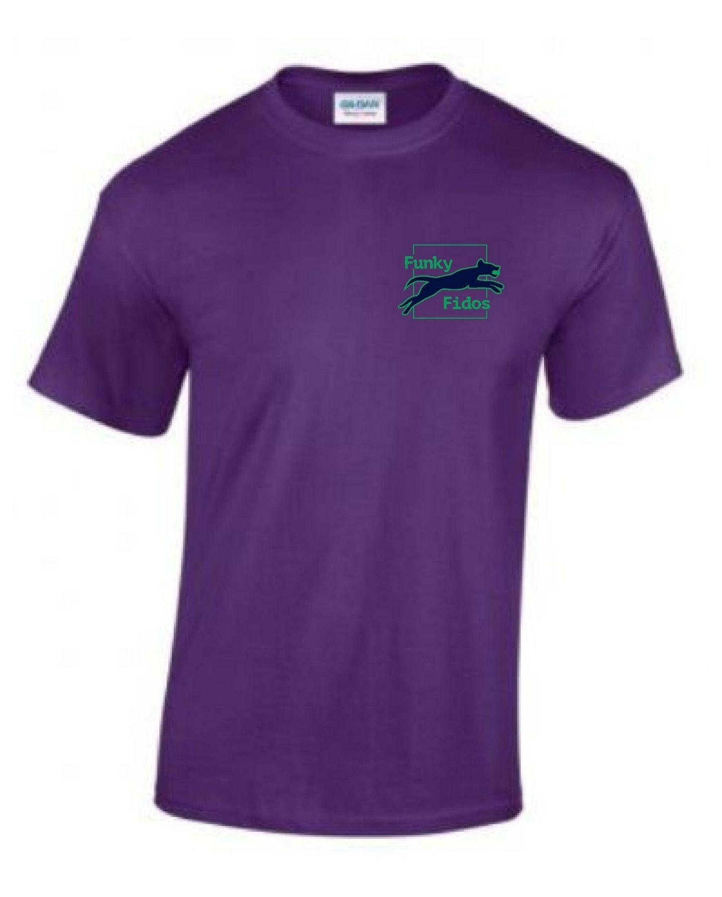 Funky Fidos – Tee (Purple)