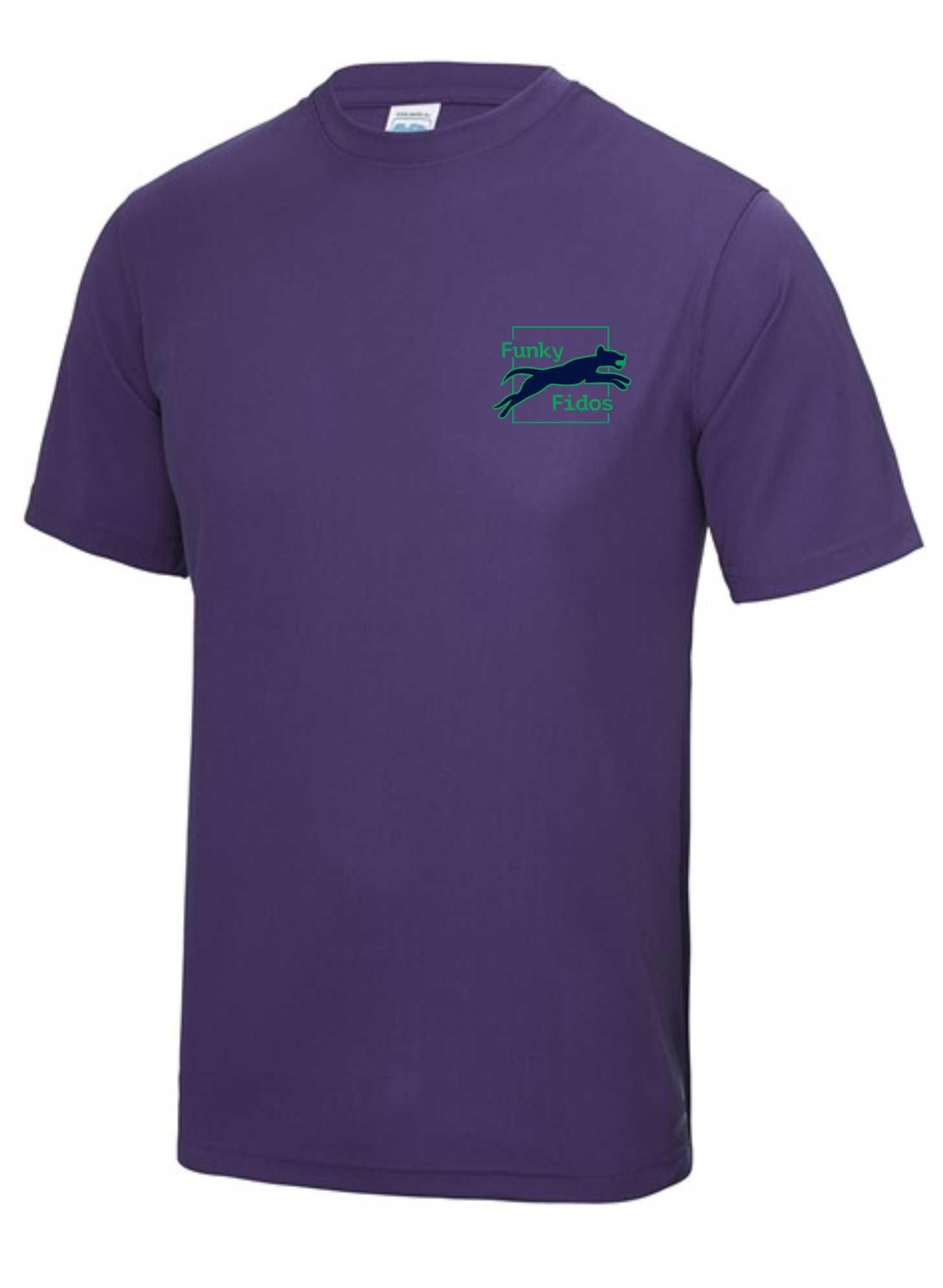 Funky Fidos – AWD Men's Cool Tee (Purple)