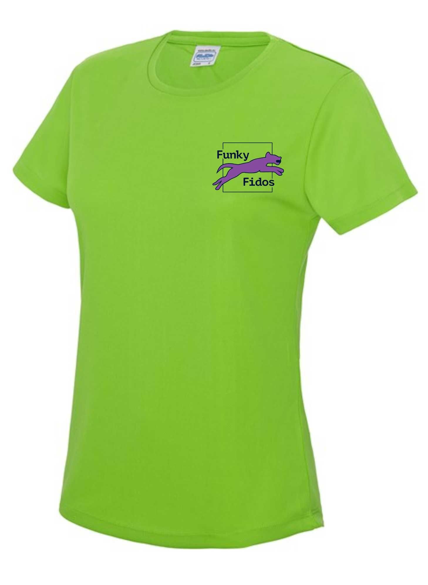 Funky Fidos – AWD Women's Cool Tee (Electric Green)