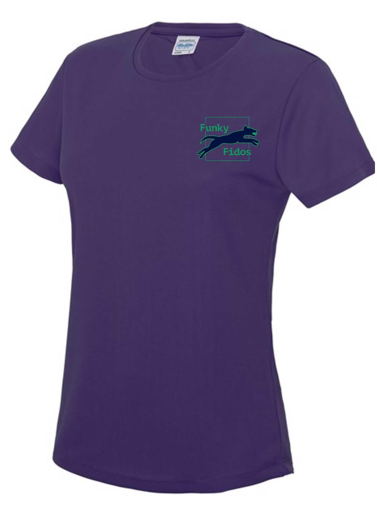 Funky Fidos – AWD Women's Cool Tee (Purple)