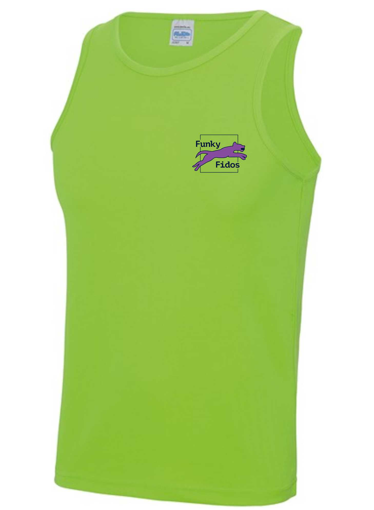Funky Fidos – AWD Men's Cool Vest (Electric Green)