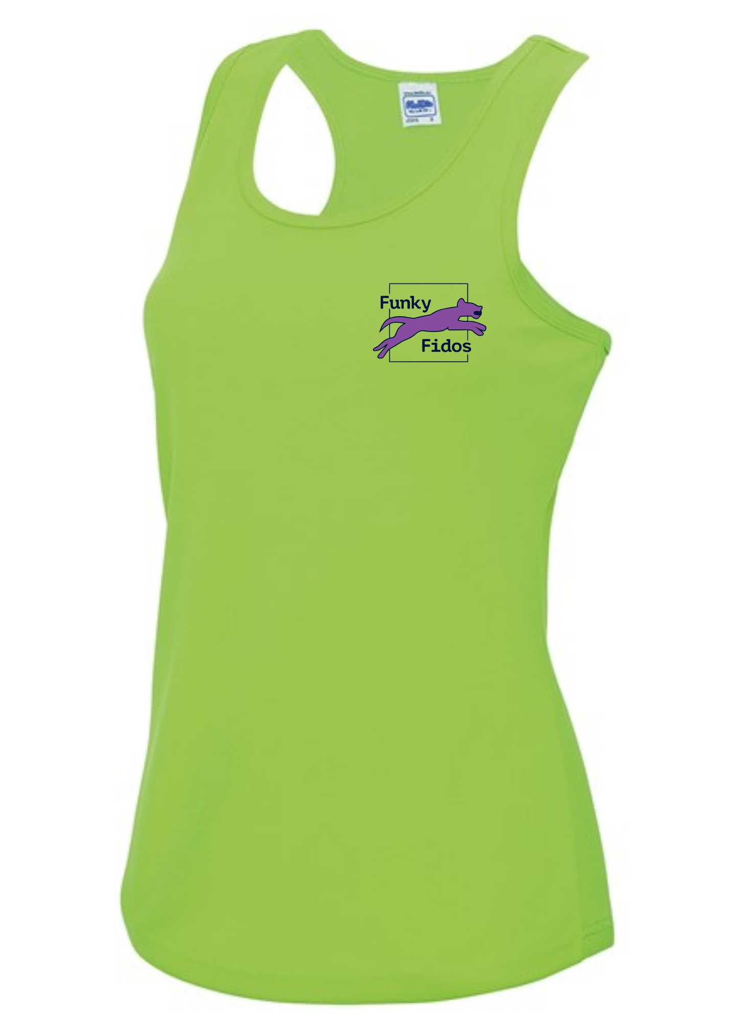 Funky Fidos – AWD Women's Cool Vest (Electric Green)