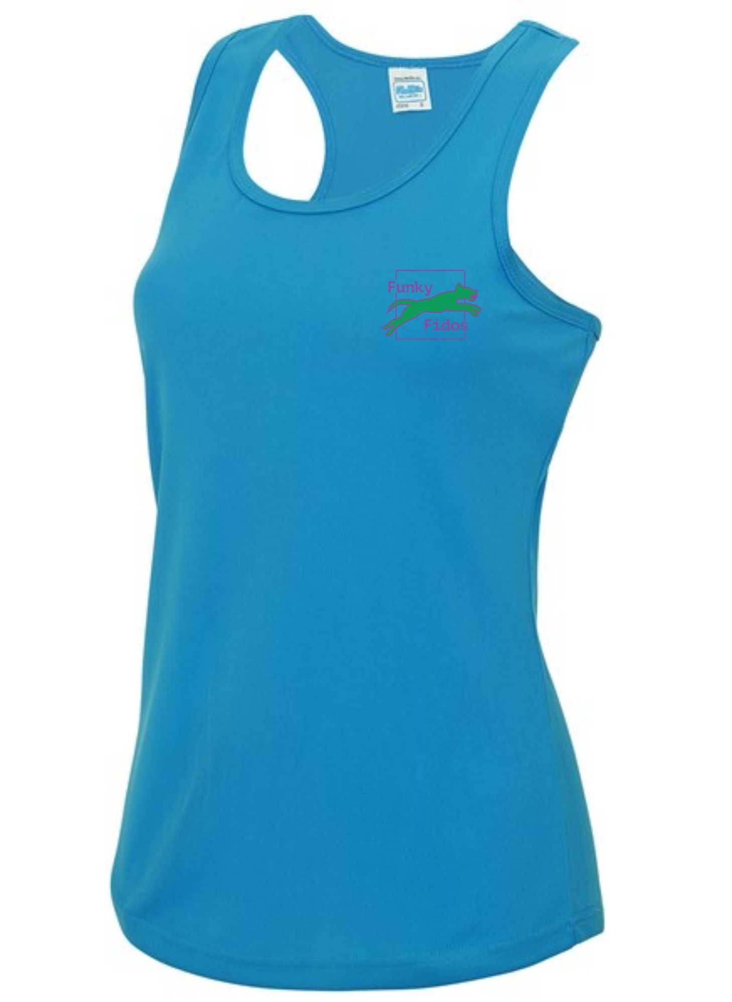 Funky Fidos – AWD Women's Cool Vest (Sapphire)