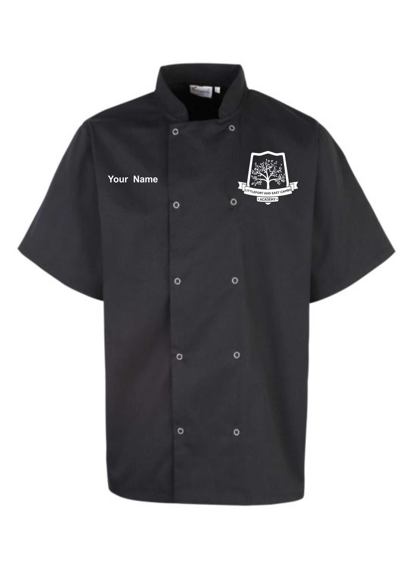 LECA - Studded Short Sleeve Chef Jacket