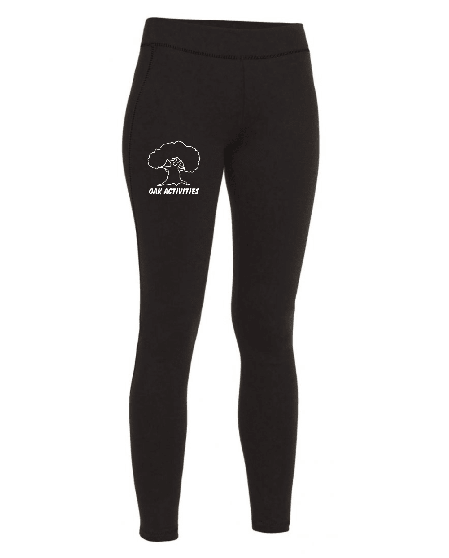 Oak Activities – Kids Stretch Athletic Leggings (Black)