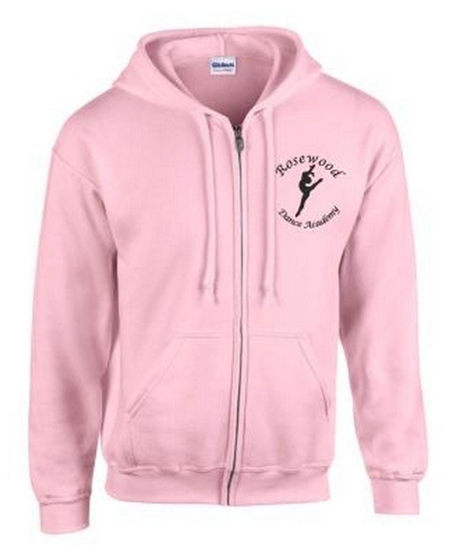 Rosewood Zip Up Hoodie Baby Pink Childrens