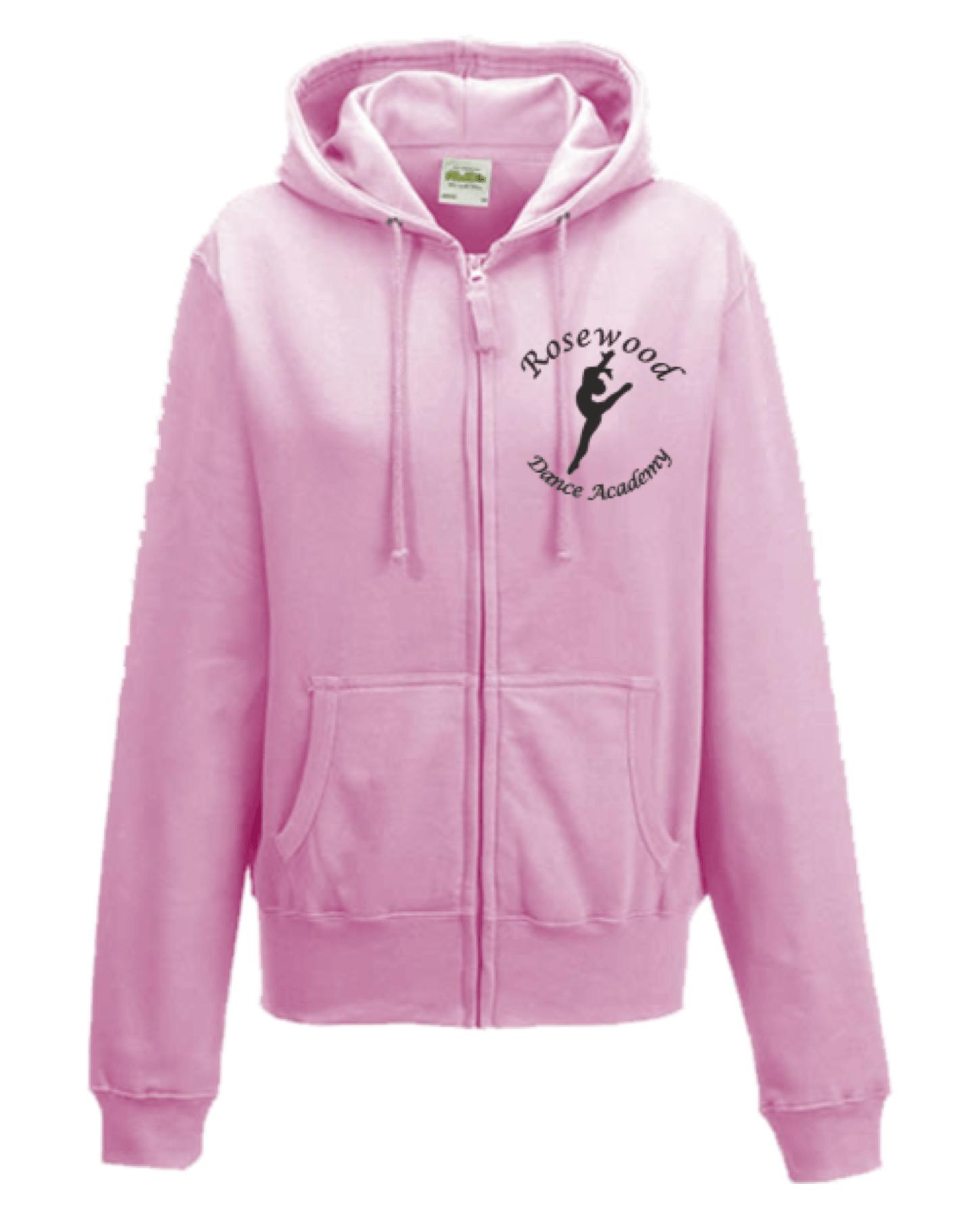 Rosewood Zip Up Hoodie Baby Pink – Adult